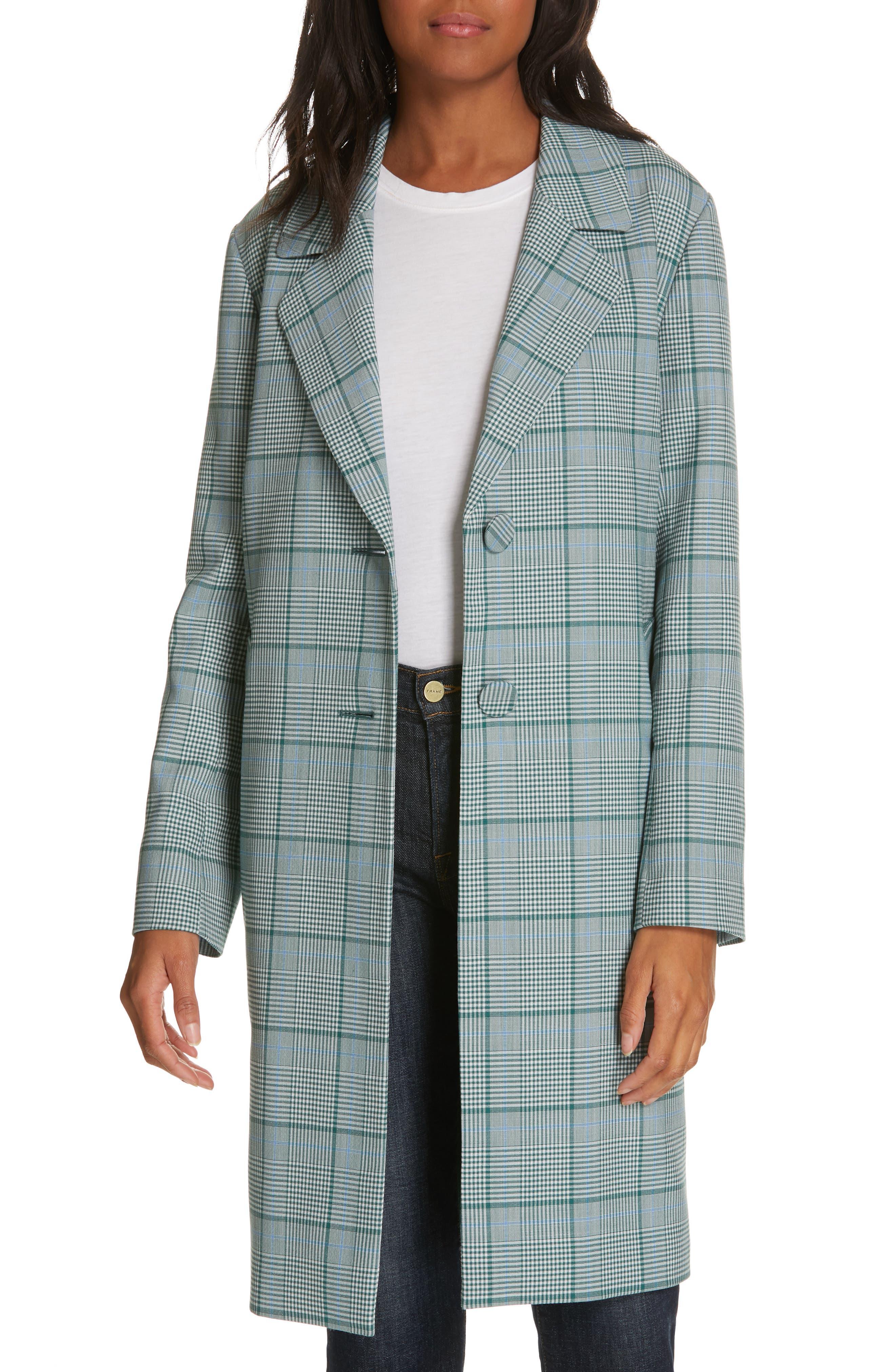 LEWIT Check Coat, Main, color, 310