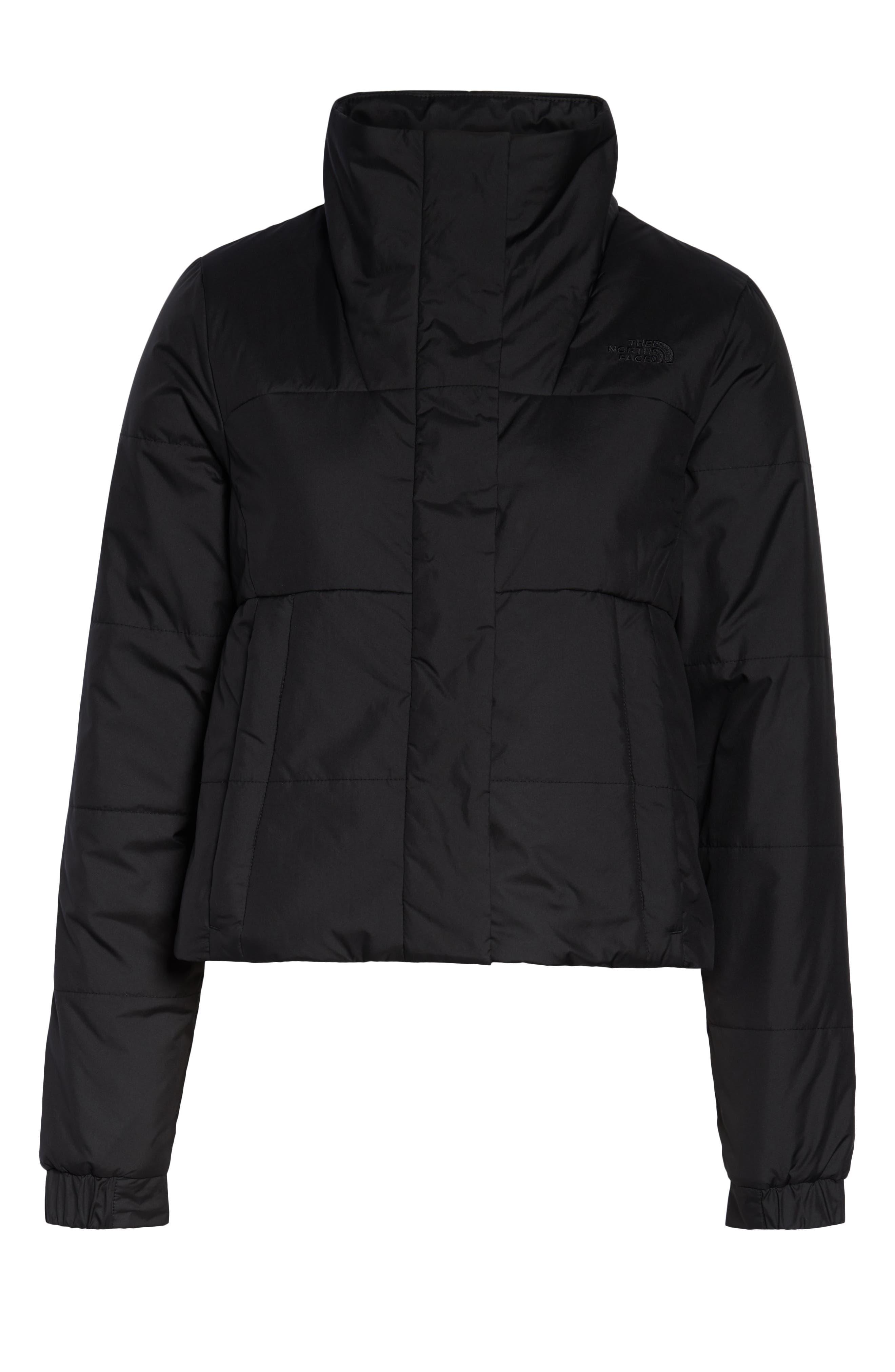 THE NORTH FACE, Femtastic Heatseeker Insulated Jacket, Alternate thumbnail 6, color, TNF BLACK