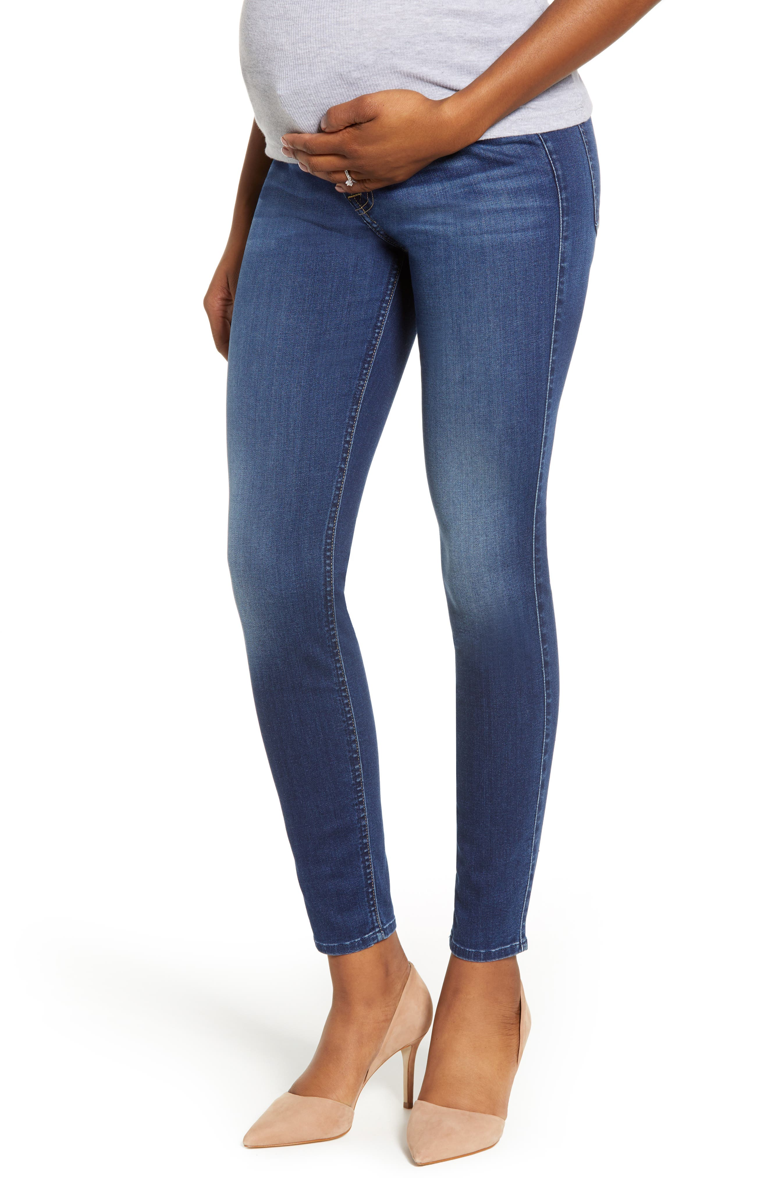 Women's 7 For All Mankind B(Air) Ankle Skinny Maternity Jeans