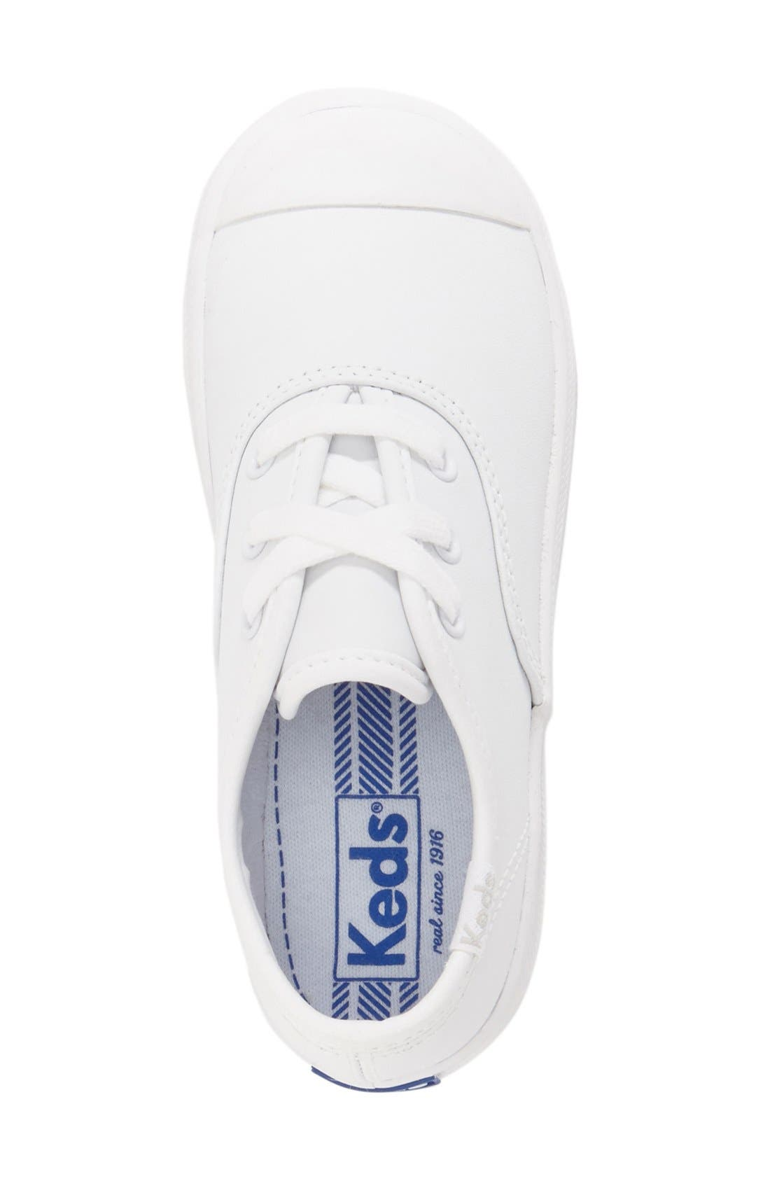 KEDS<SUP>®</SUP>, 'Champion' Sneaker, Alternate thumbnail 3, color, WHITE LEATHER
