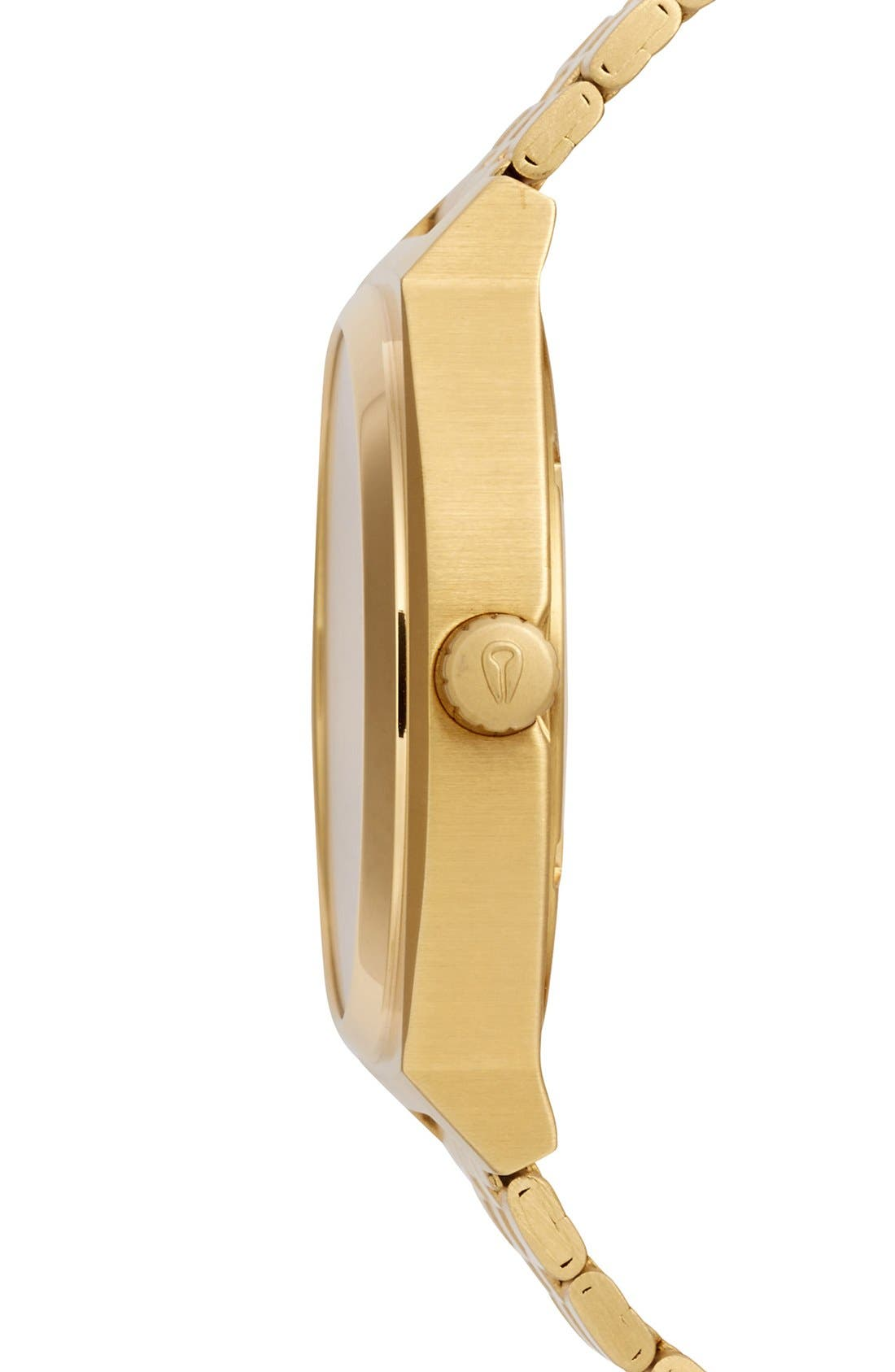 NIXON, 'The Time Teller' Watch, 37mm, Alternate thumbnail 4, color, GOLD