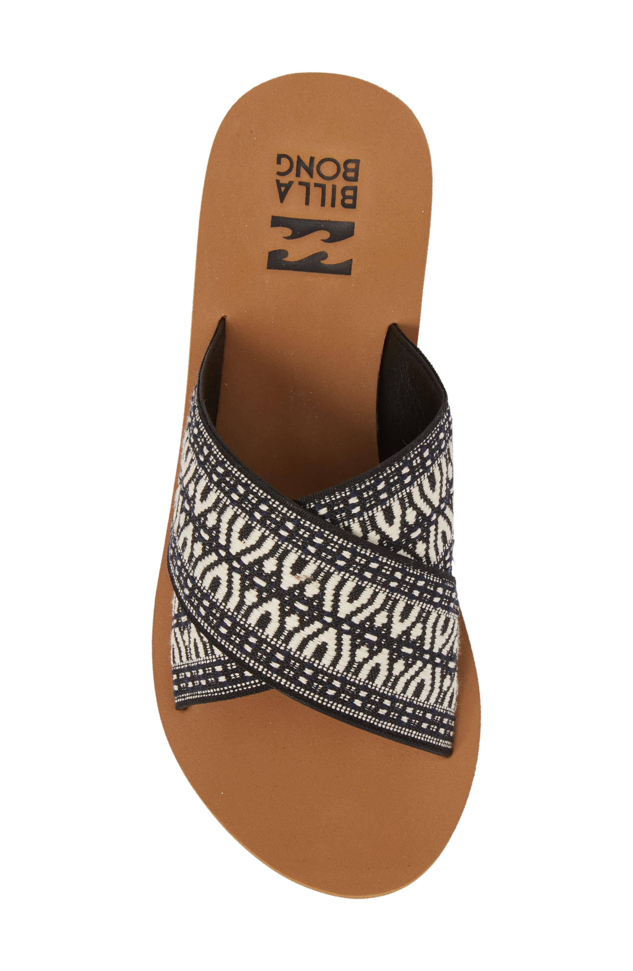 BILLABONG, Surf Bandit Slide Sandal, Alternate thumbnail 5, color, BLACK/ WHITE
