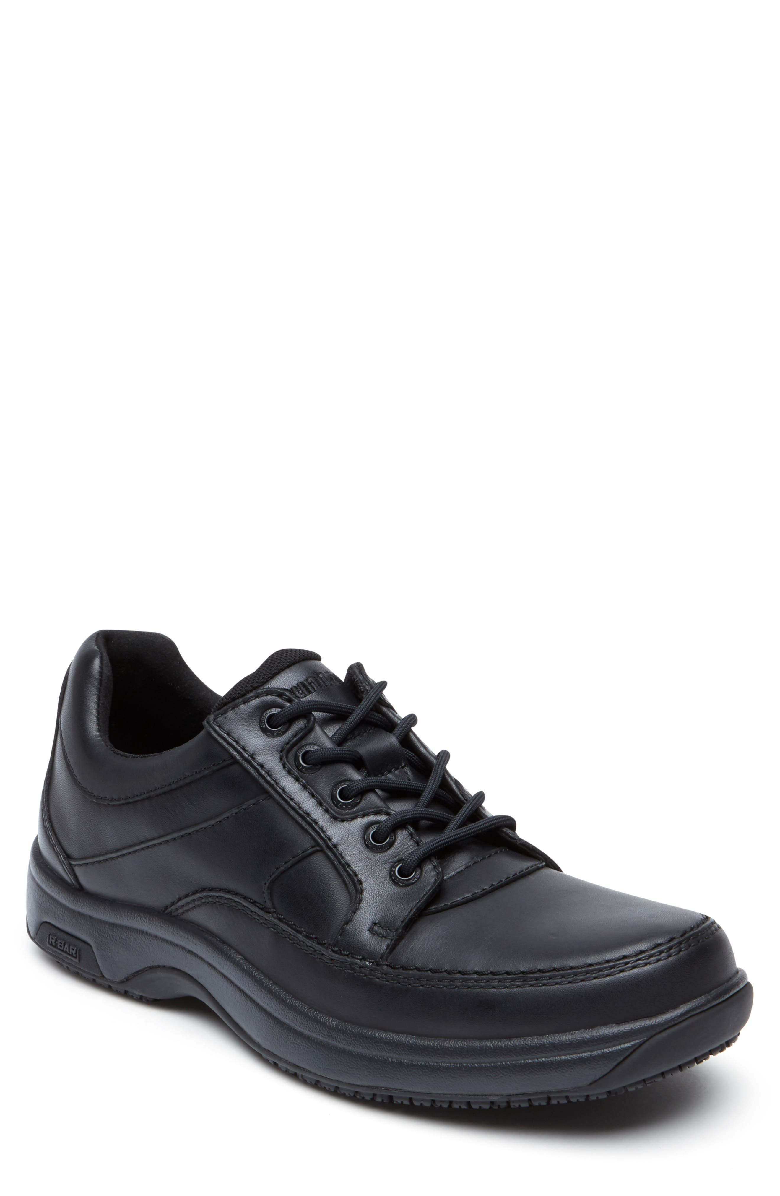 DUNHAM, 'Midland' Sneaker, Main thumbnail 1, color, BLACK LEATHER