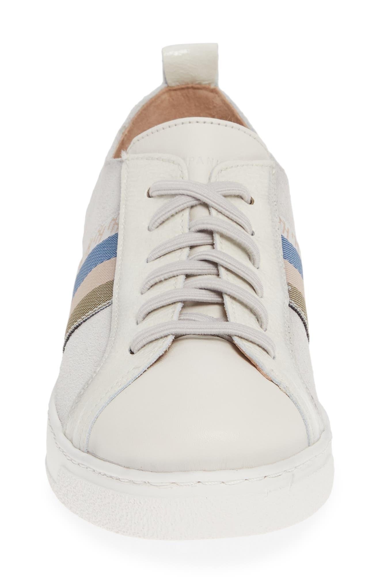 HISPANITAS, Kailua Platform Sneaker, Alternate thumbnail 4, color, VELOUR PANNA LEATHER