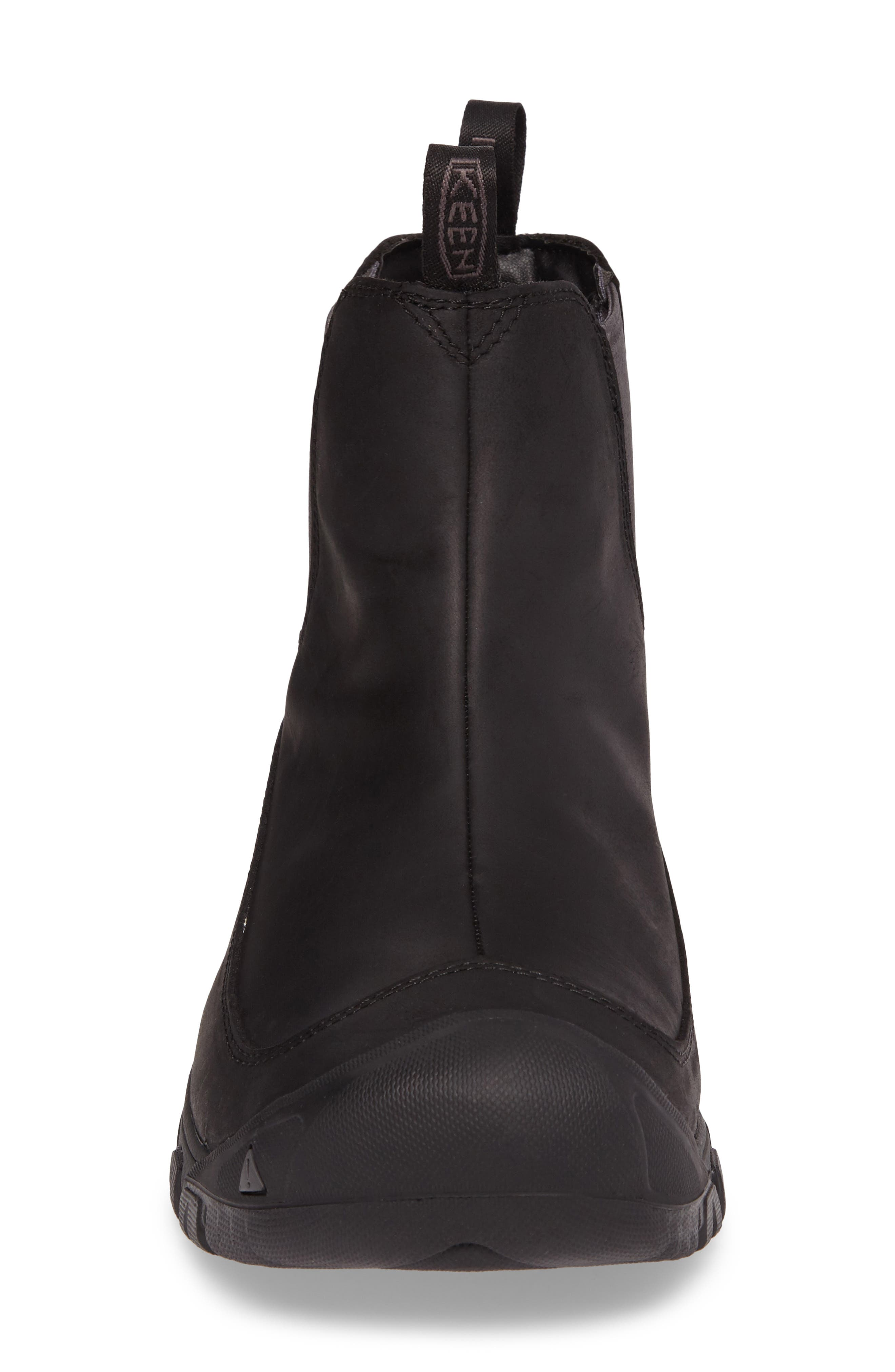 KEEN, Anchorage II Waterproof Chelsea Boot, Alternate thumbnail 4, color, 001