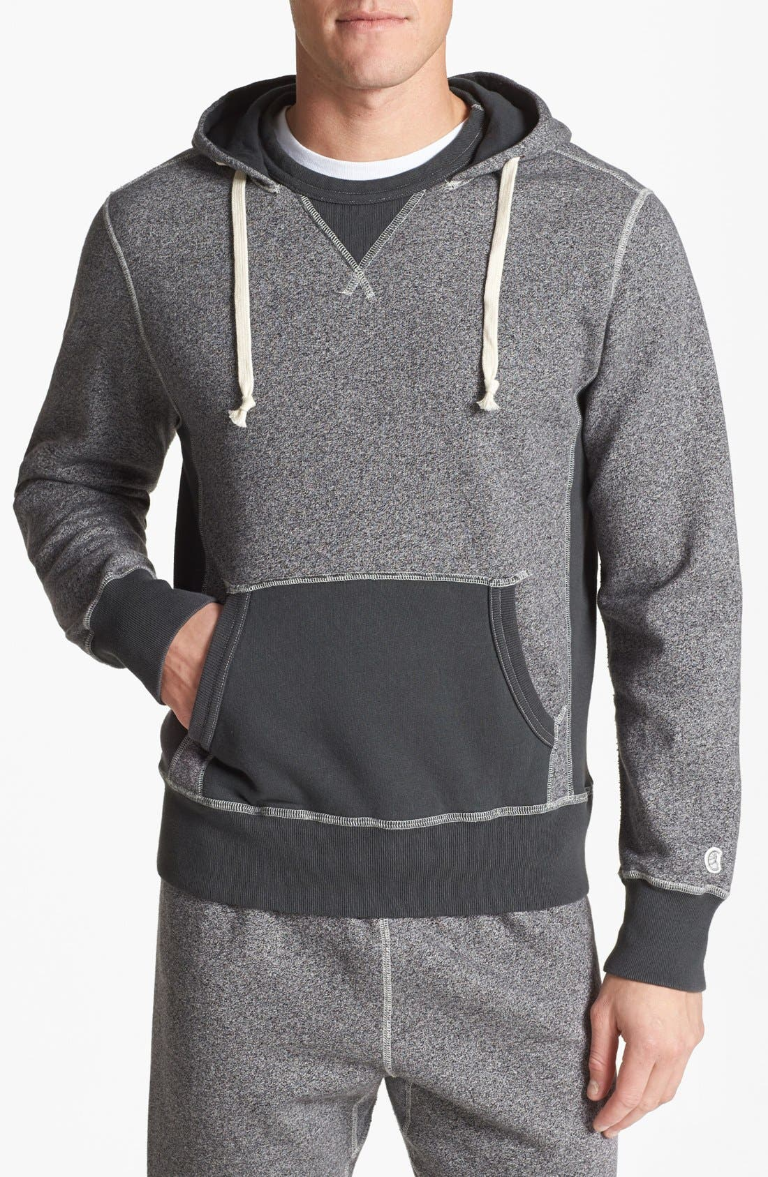TODD SNYDER + CHAMPION Marled Hoodie, Main, color, 067
