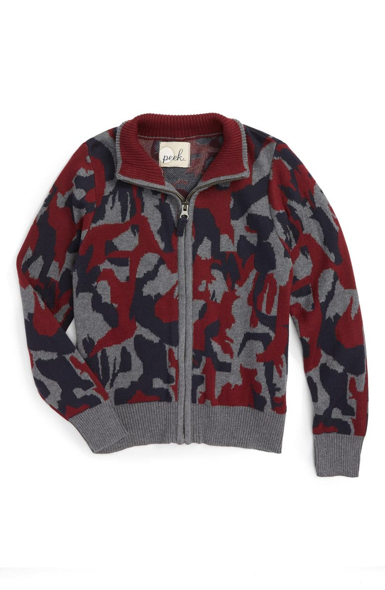 11225c317 PEEK AREN'T YOU CURIOUS Peek Rockridge Camo Zip Sweater, Main, color,