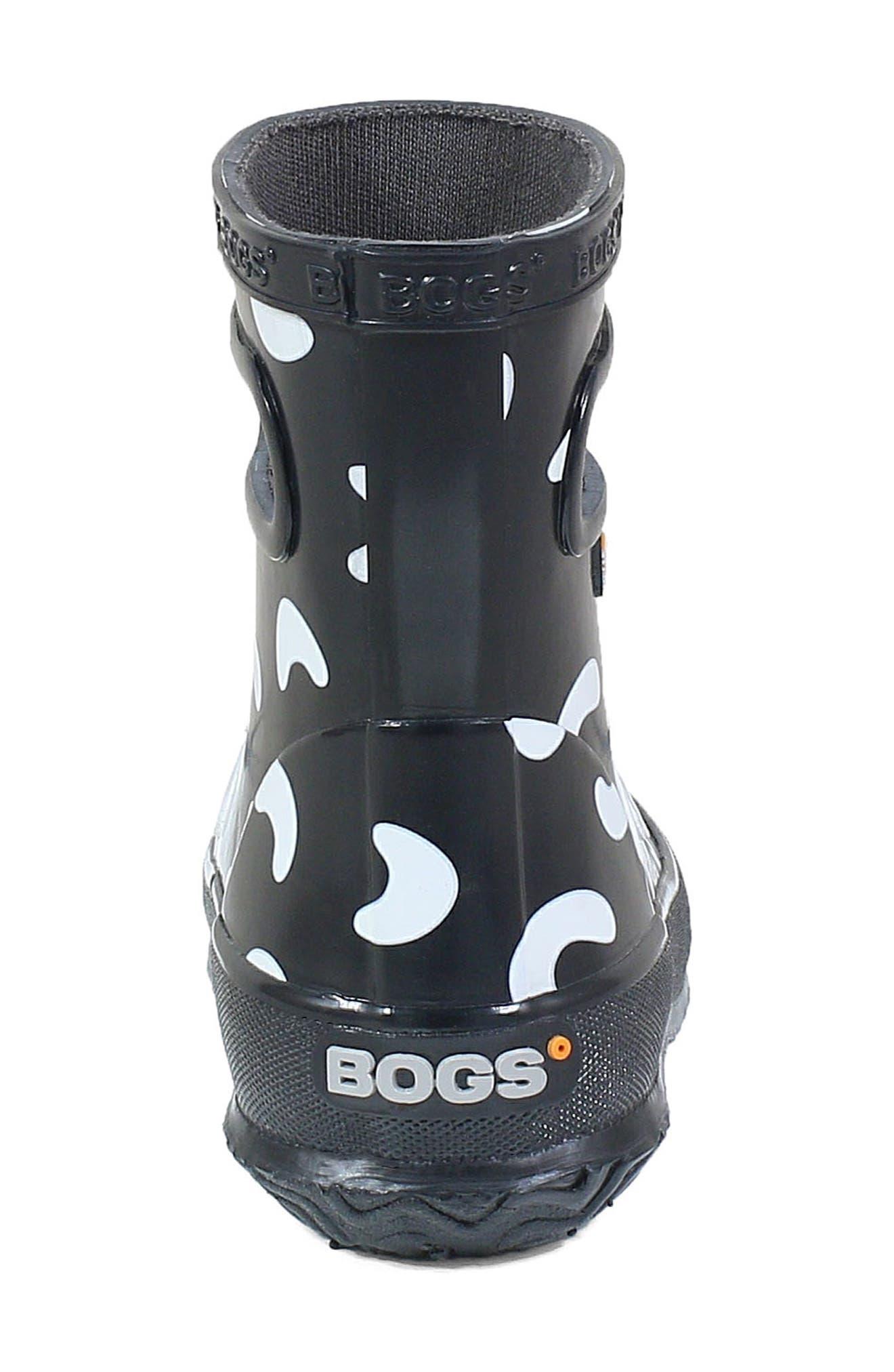 BOGS, Animal Skipper Waterproof Rain Boot, Alternate thumbnail 7, color, 009