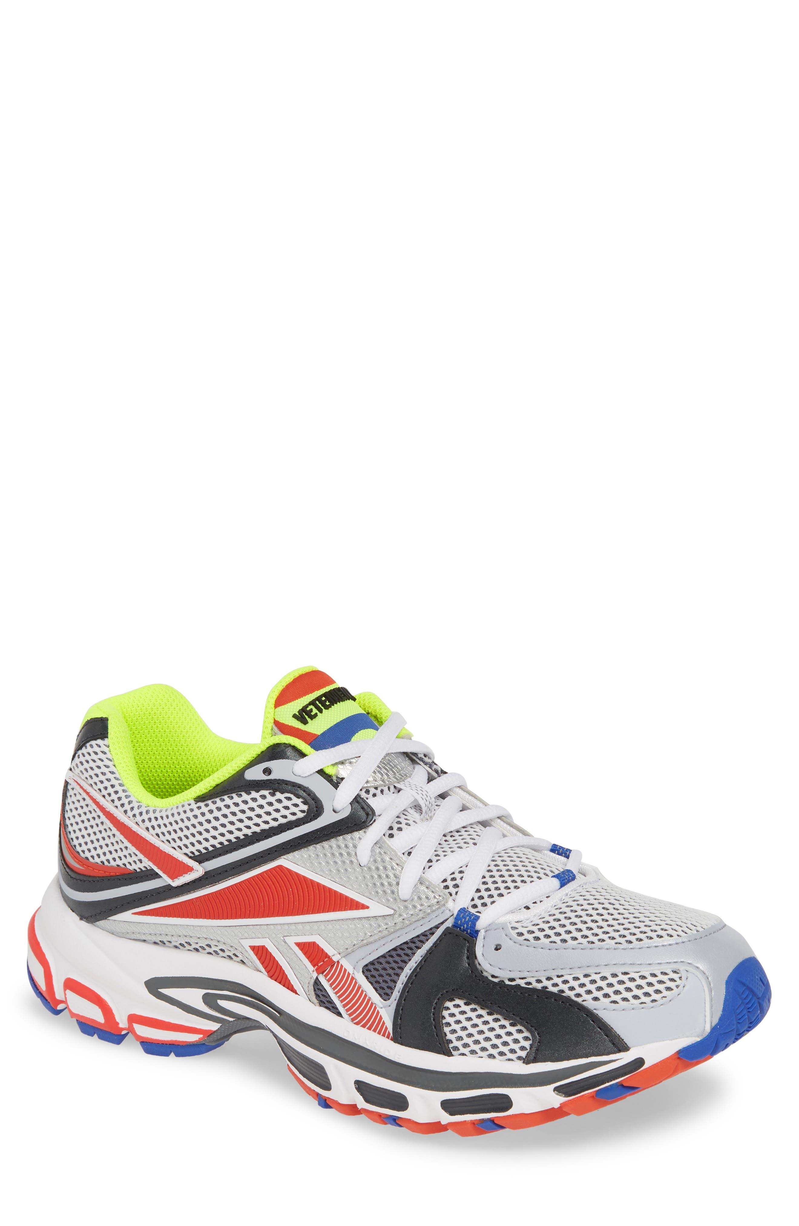 VETEMENTS, x Reebok Spike Runner 200 Sneaker, Main thumbnail 1, color, FLUO YELLOW