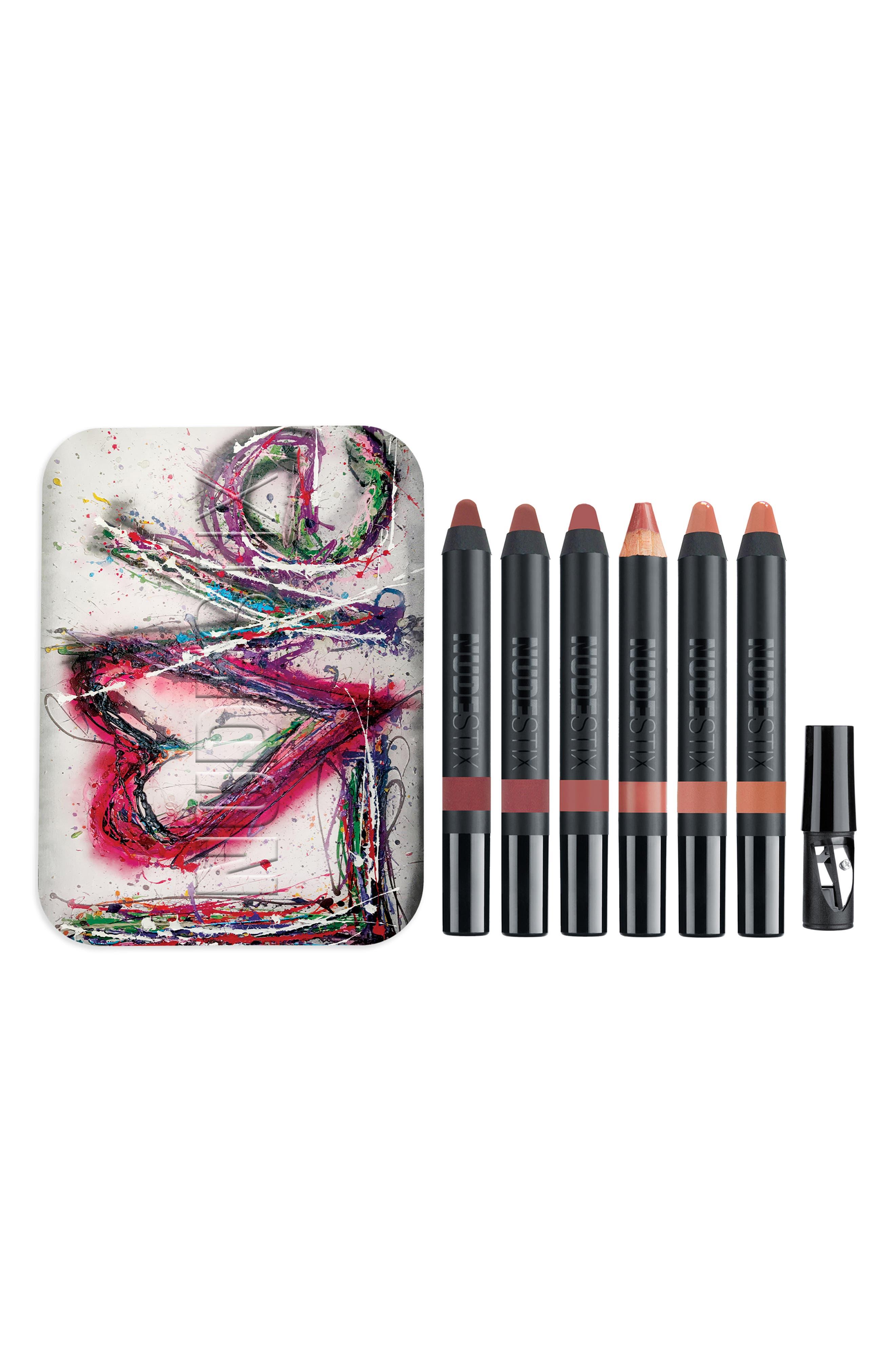 NUDESTIX, Love Me Nudes Lip Kit, Main thumbnail 1, color, NO COLOR