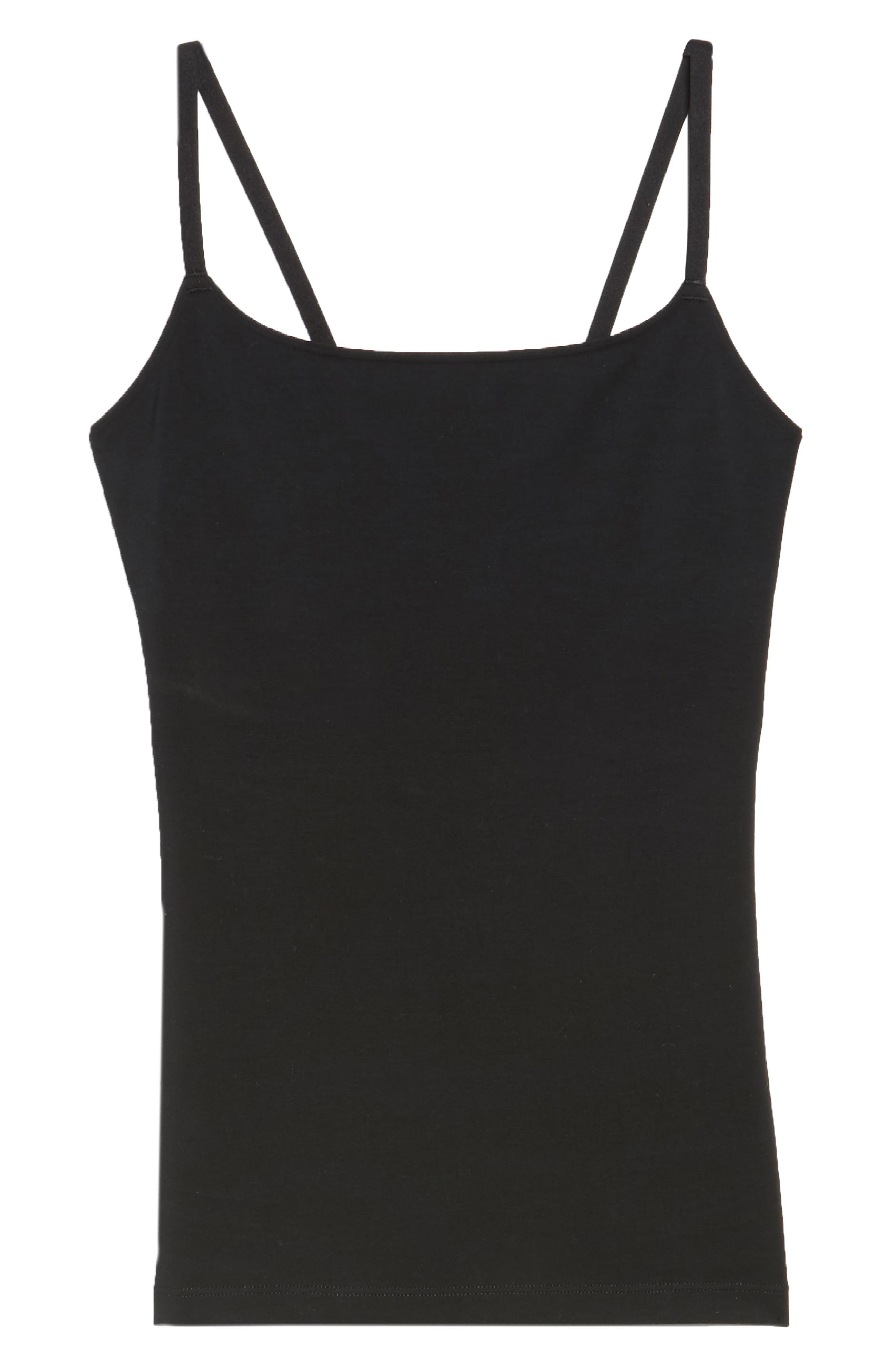SPANX<SUP>®</SUP>, In & Out Camisole, Alternate thumbnail 6, color, VERY BLACK