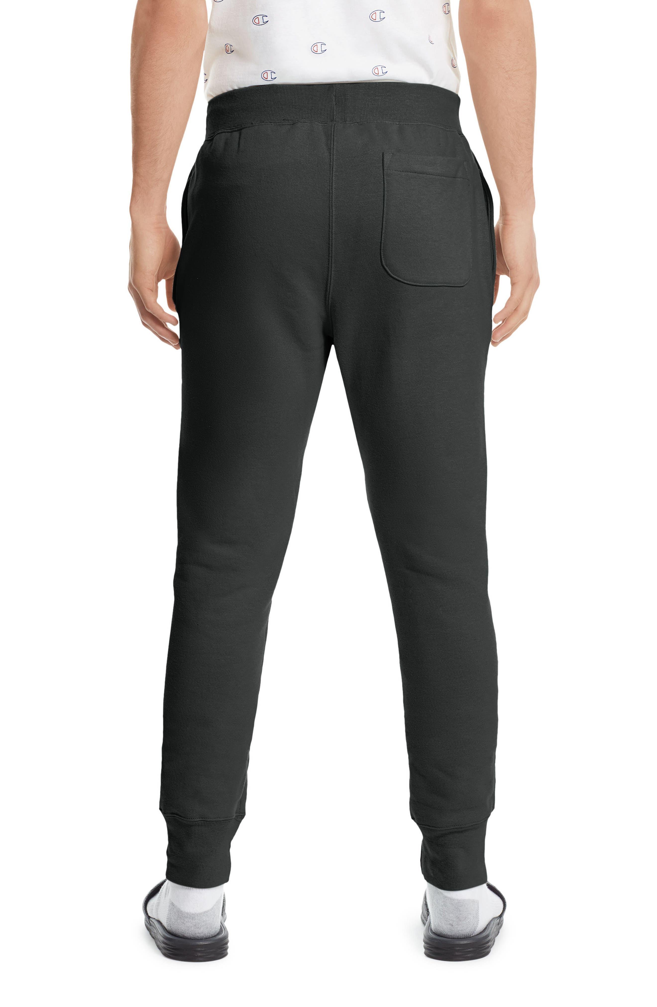 CHAMPION, Reverse Weave<sup>®</sup> Jogger Pants, Alternate thumbnail 2, color, BLACK