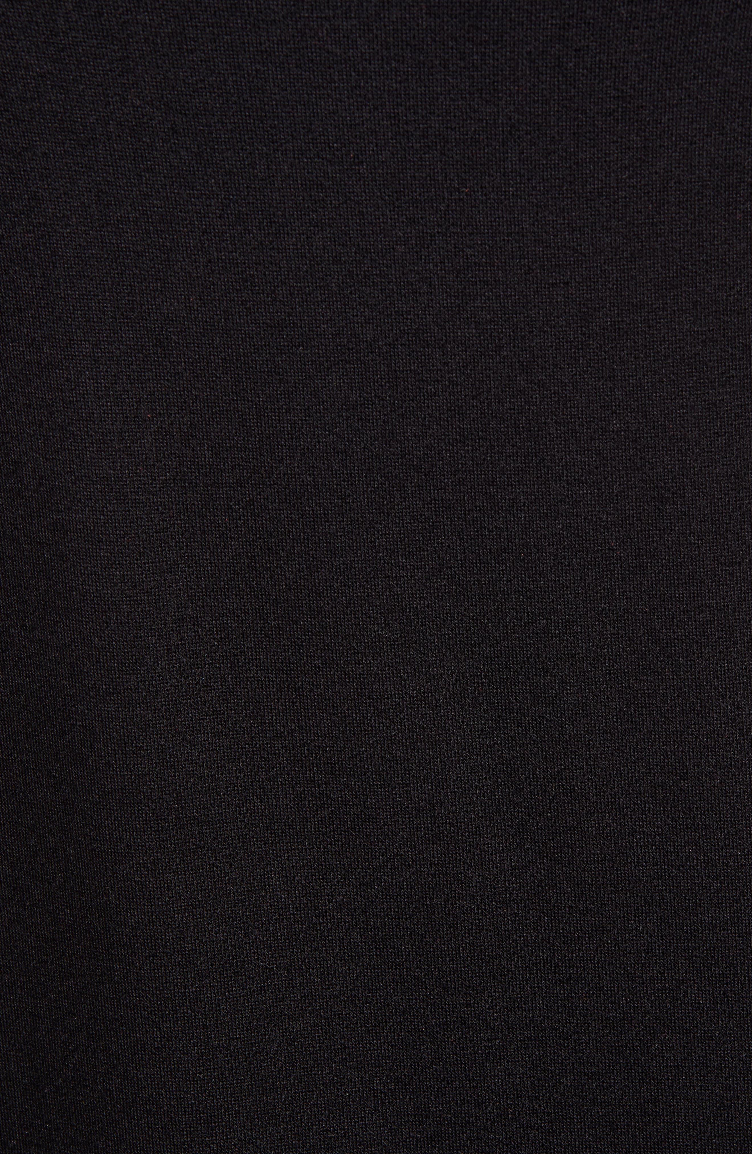 GIBSON, x Hi Sugarplum! Laguna Soft Jersey Ruffle Back T-Shirt Dress, Alternate thumbnail 6, color, BLACK