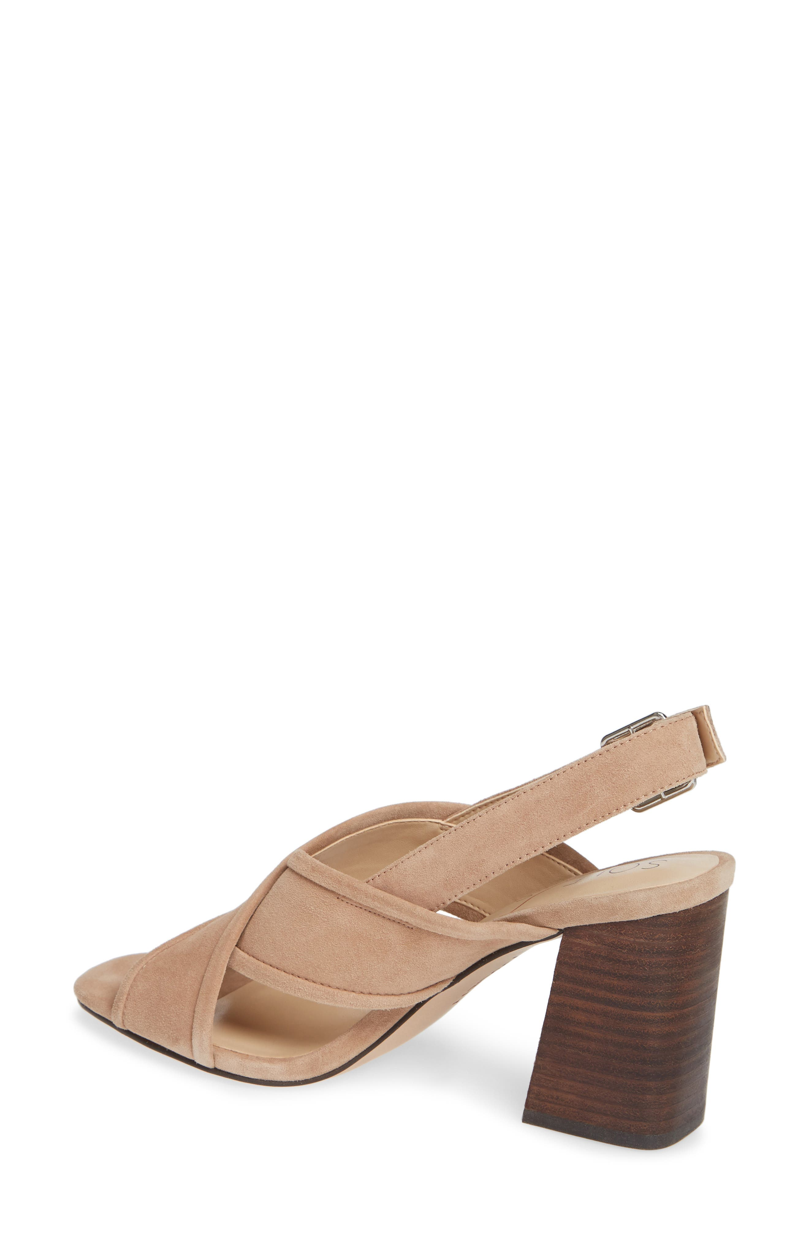 SOLE SOCIETY, Joree Slingback Sandal, Alternate thumbnail 2, color, DUSTED TAUPE SUEDE