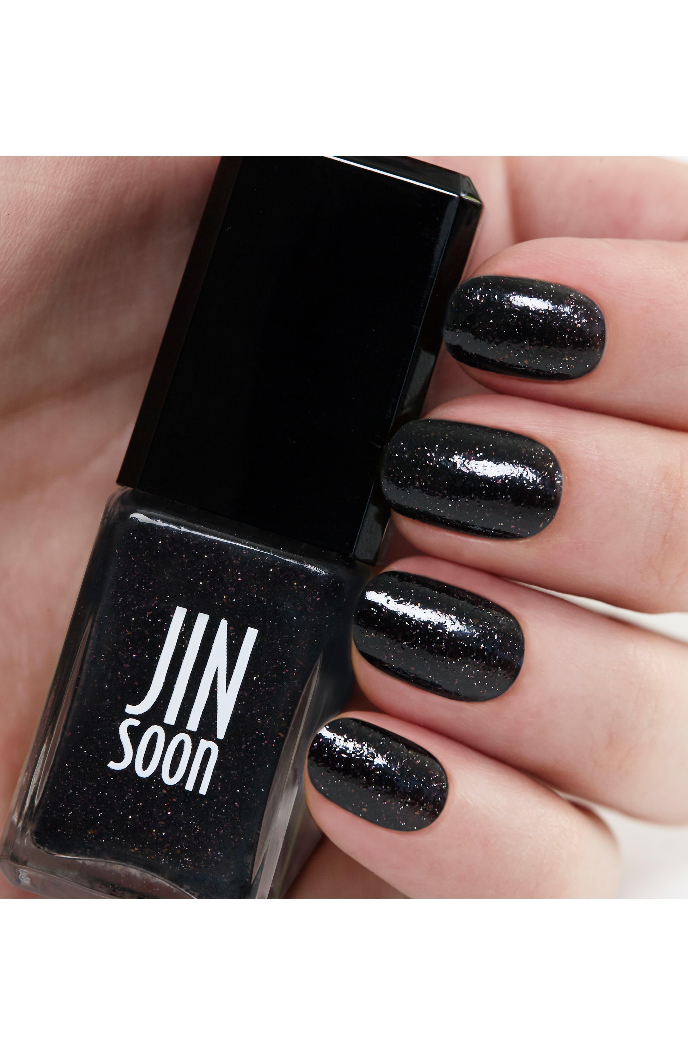 JINSOON, 'Obsidian' Nail Lacquer, Alternate thumbnail 2, color, 000