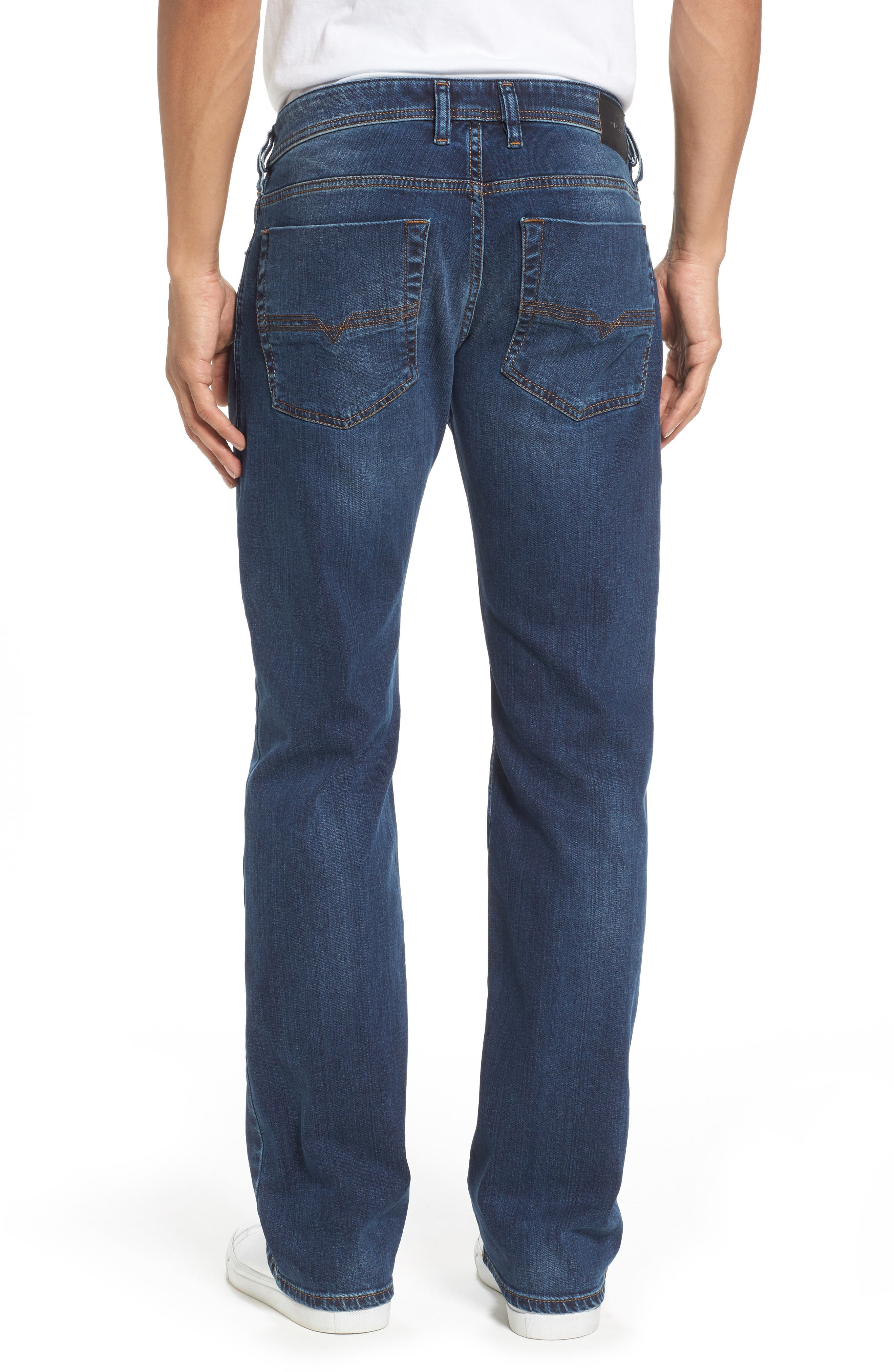 DIESEL<SUP>®</SUP>, Zatiny Bootcut Jeans, Alternate thumbnail 2, color, 084BU