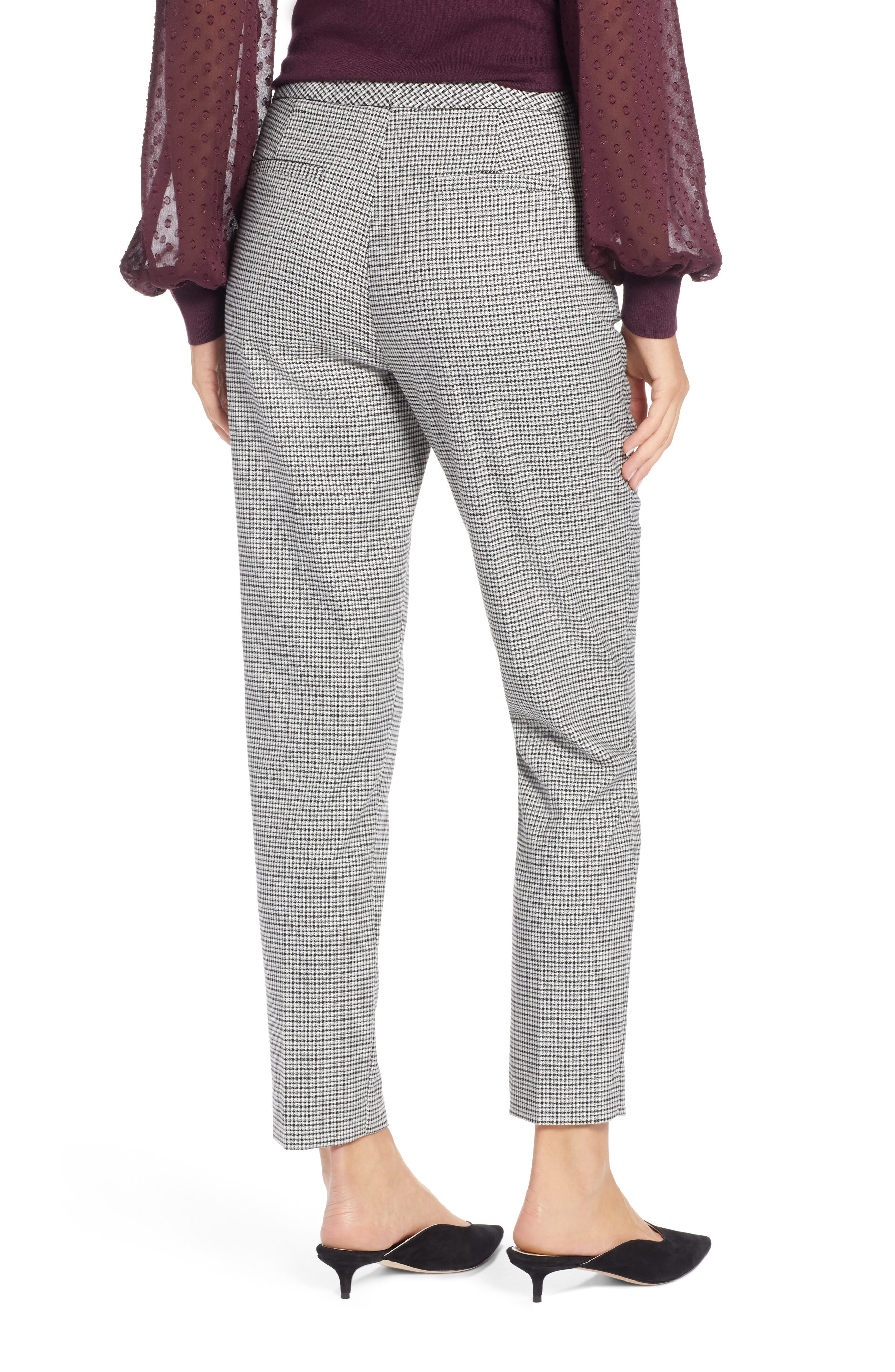 HALOGEN<SUP>®</SUP>, Plaid Ankle Skinny Pants, Alternate thumbnail 4, color, 001