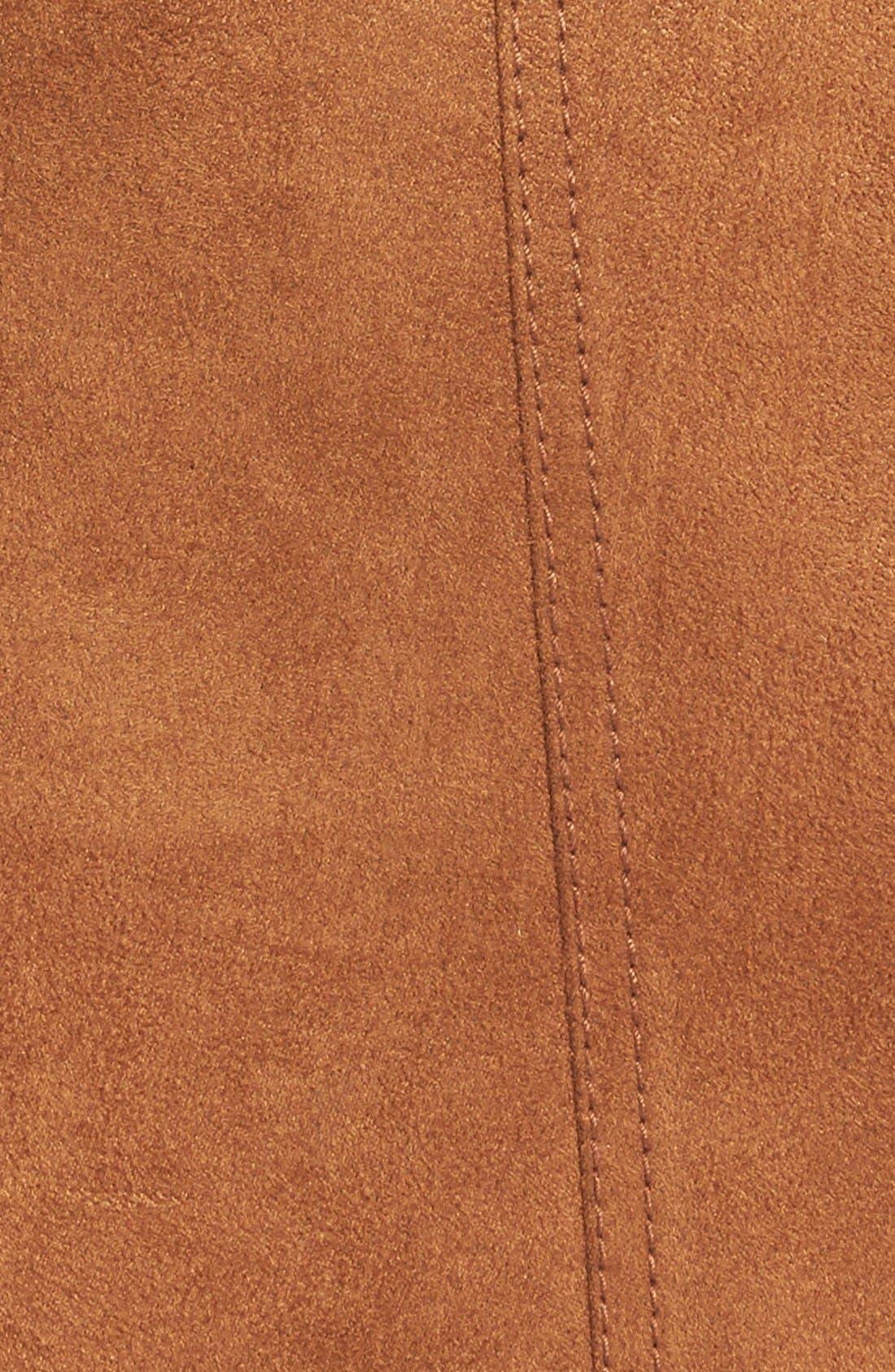 HINGE, Faux Suede A-Line Miniskirt, Alternate thumbnail 2, color, 200