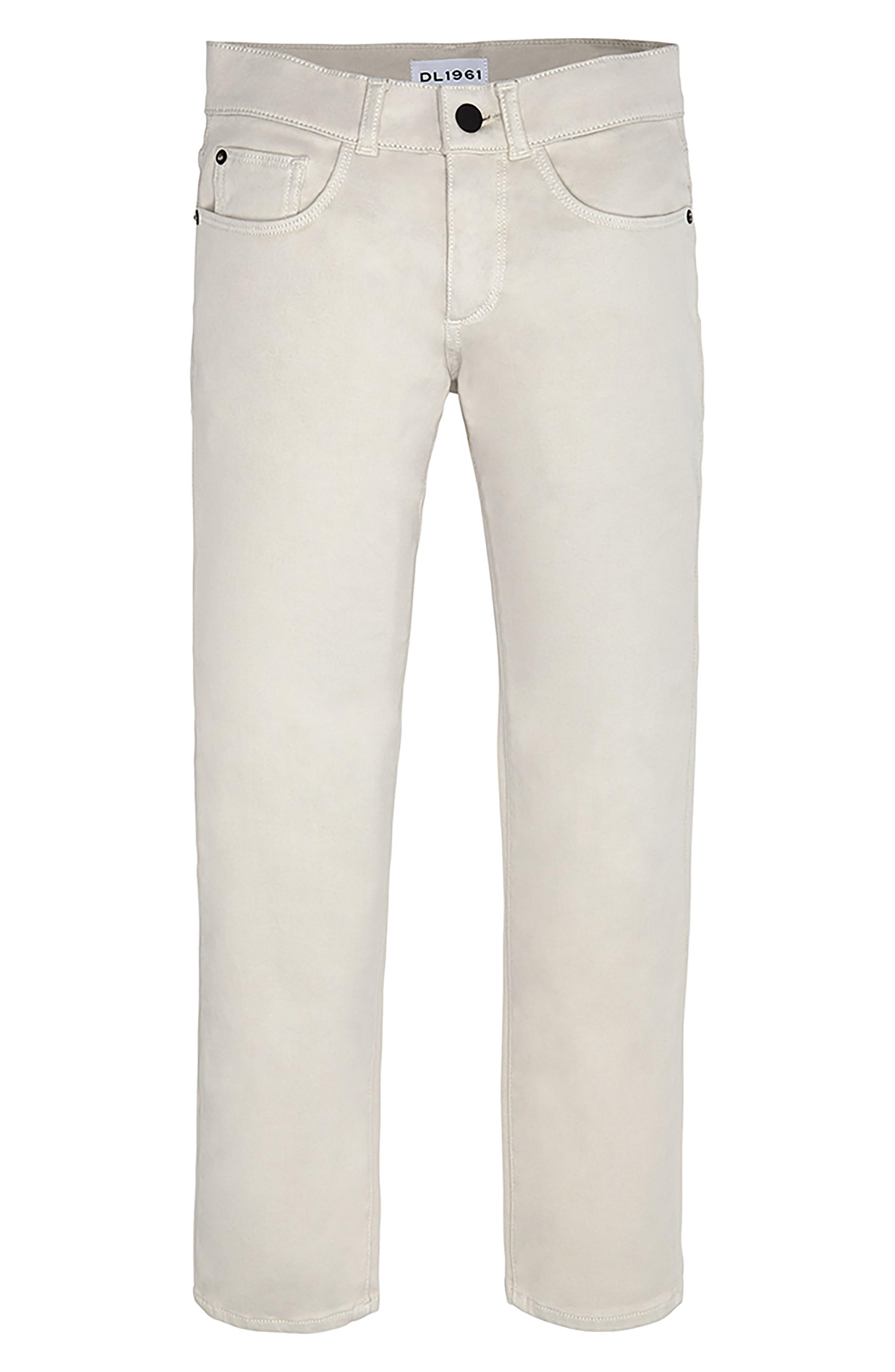 Boys Dl1961 Brady Slim Fit Twill Pants Size 12  Beige
