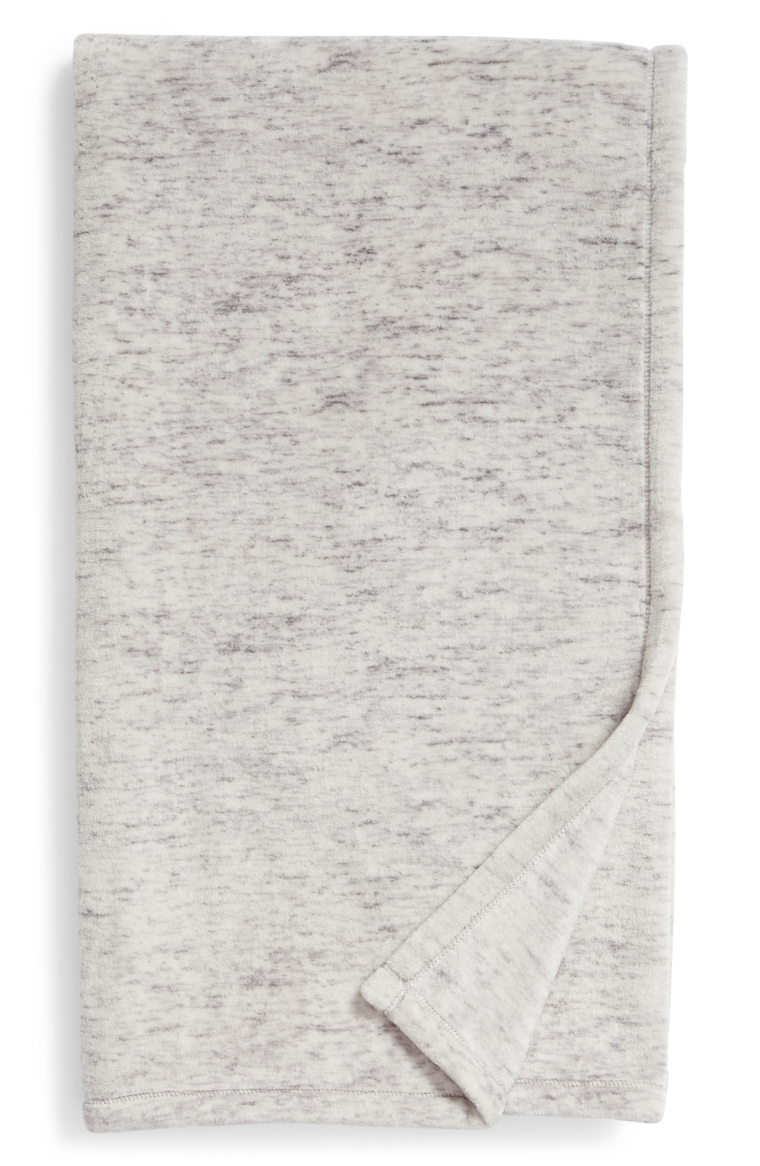 NORDSTROM AT HOME, Heathered Throw, Main thumbnail 1, color, GREY FROST
