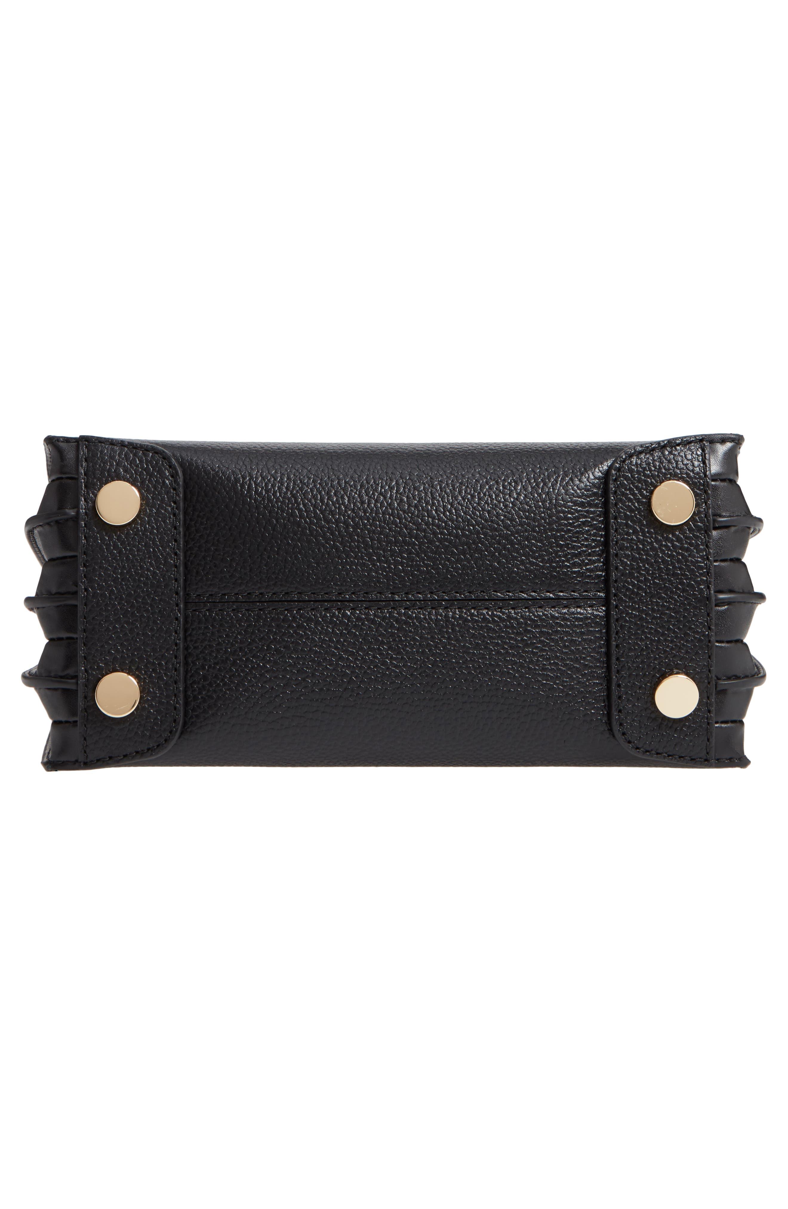 MICHAEL MICHAEL KORS, Medium Mercer Convertible Leather Tote, Alternate thumbnail 7, color, BLACK