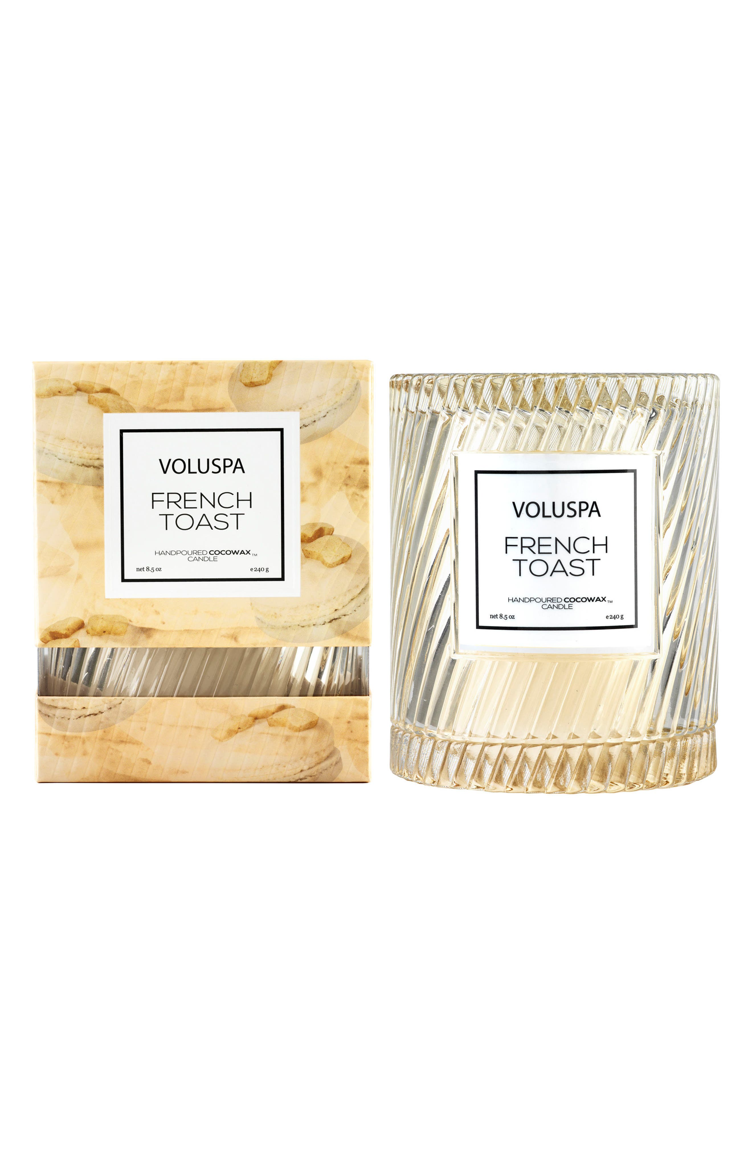 VOLUSPA, Macaron Icon Cloche Cover Candle, Alternate thumbnail 2, color, FRENCH TOAST
