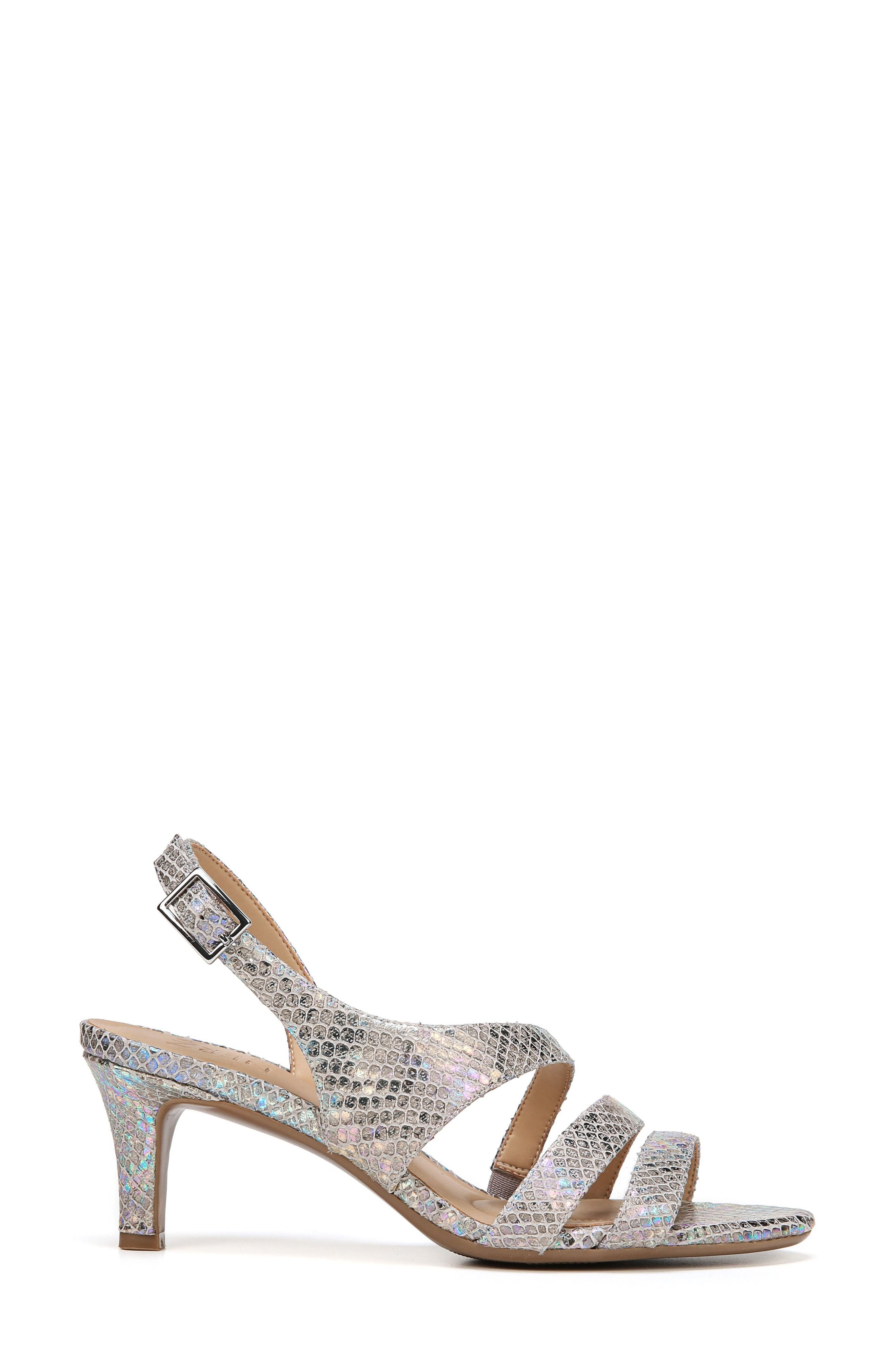 NATURALIZER, Taimi Sandal, Alternate thumbnail 3, color, SILVER SNAKE LEATHER PRINT