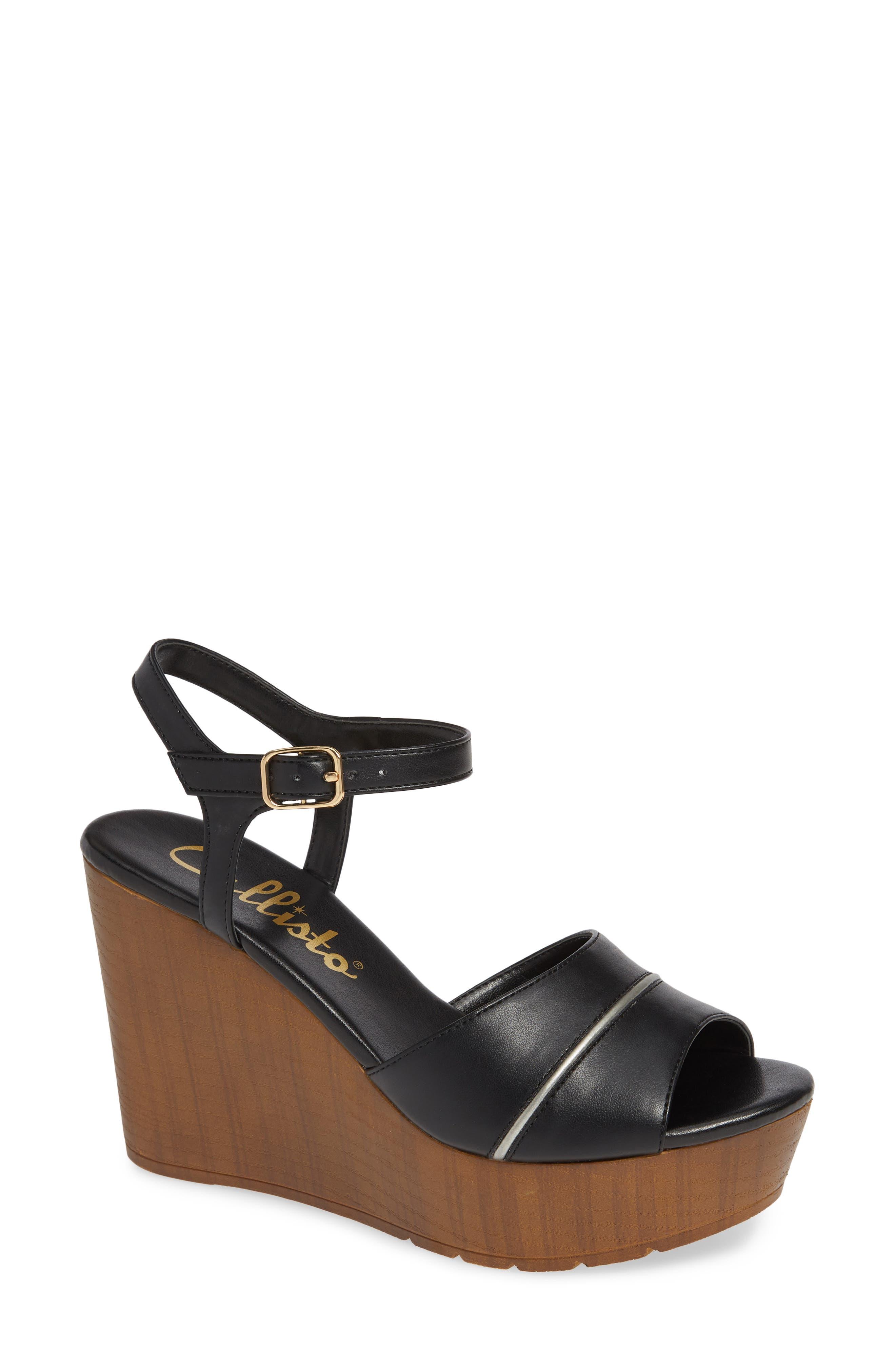 CALLISTO Masalla Platform Wedge Sandal, Main, color, BLACK FAUX LEATHER