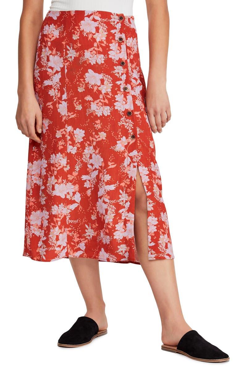 Free People Midi skirts Retro Love Midi Skirt