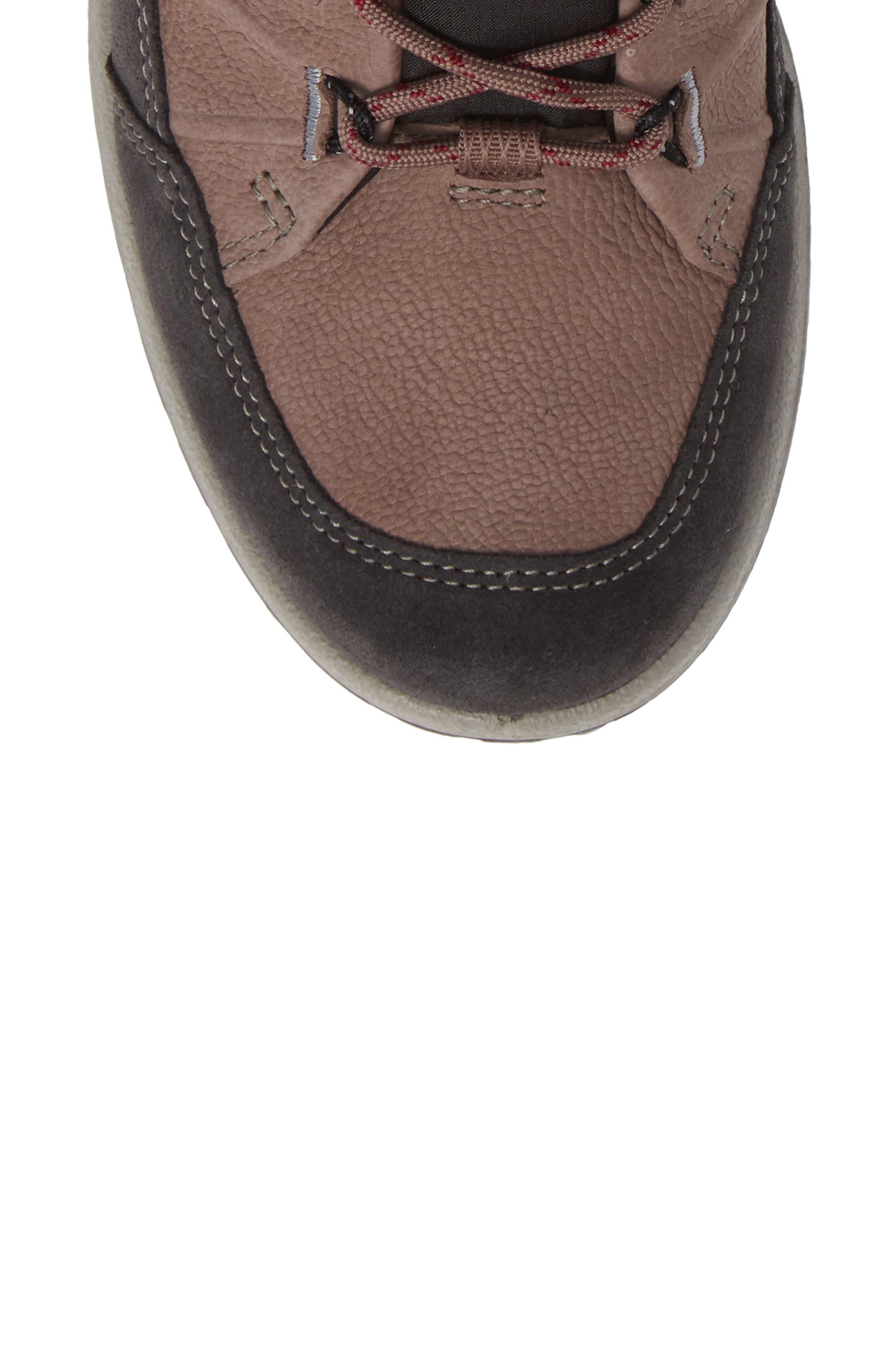 ECCO, 'Aspina GTX' Waterproof High Top Shoe, Alternate thumbnail 5, color, DEEP TAUPE NUBUCK LEATHER