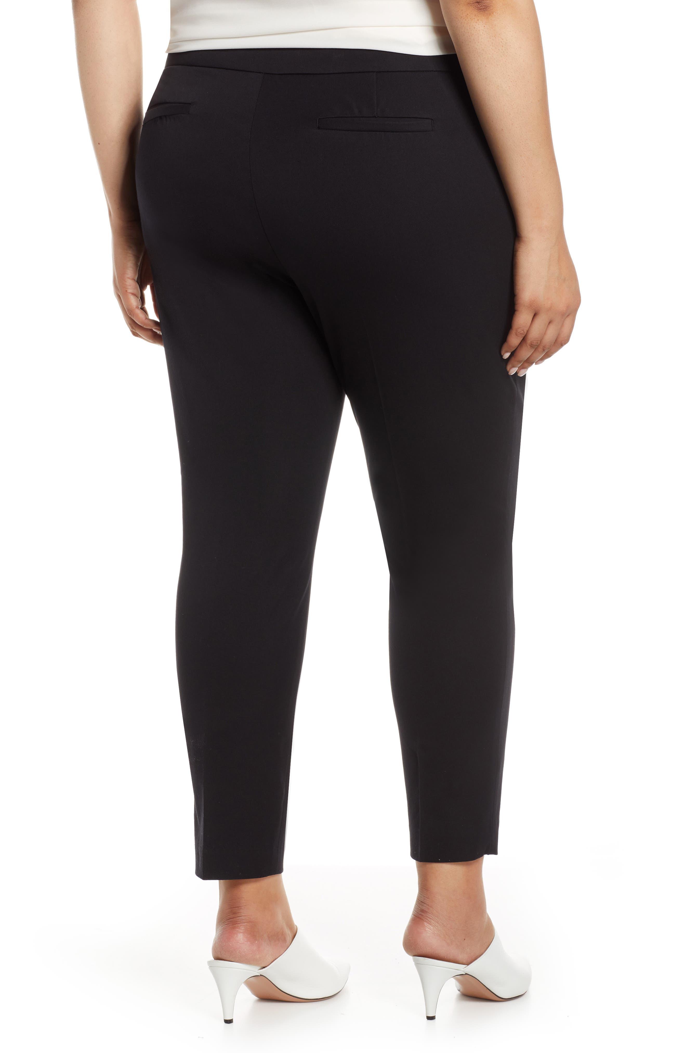 HALOGEN<SUP>®</SUP>, Ankle Pants, Alternate thumbnail 2, color, BLACK