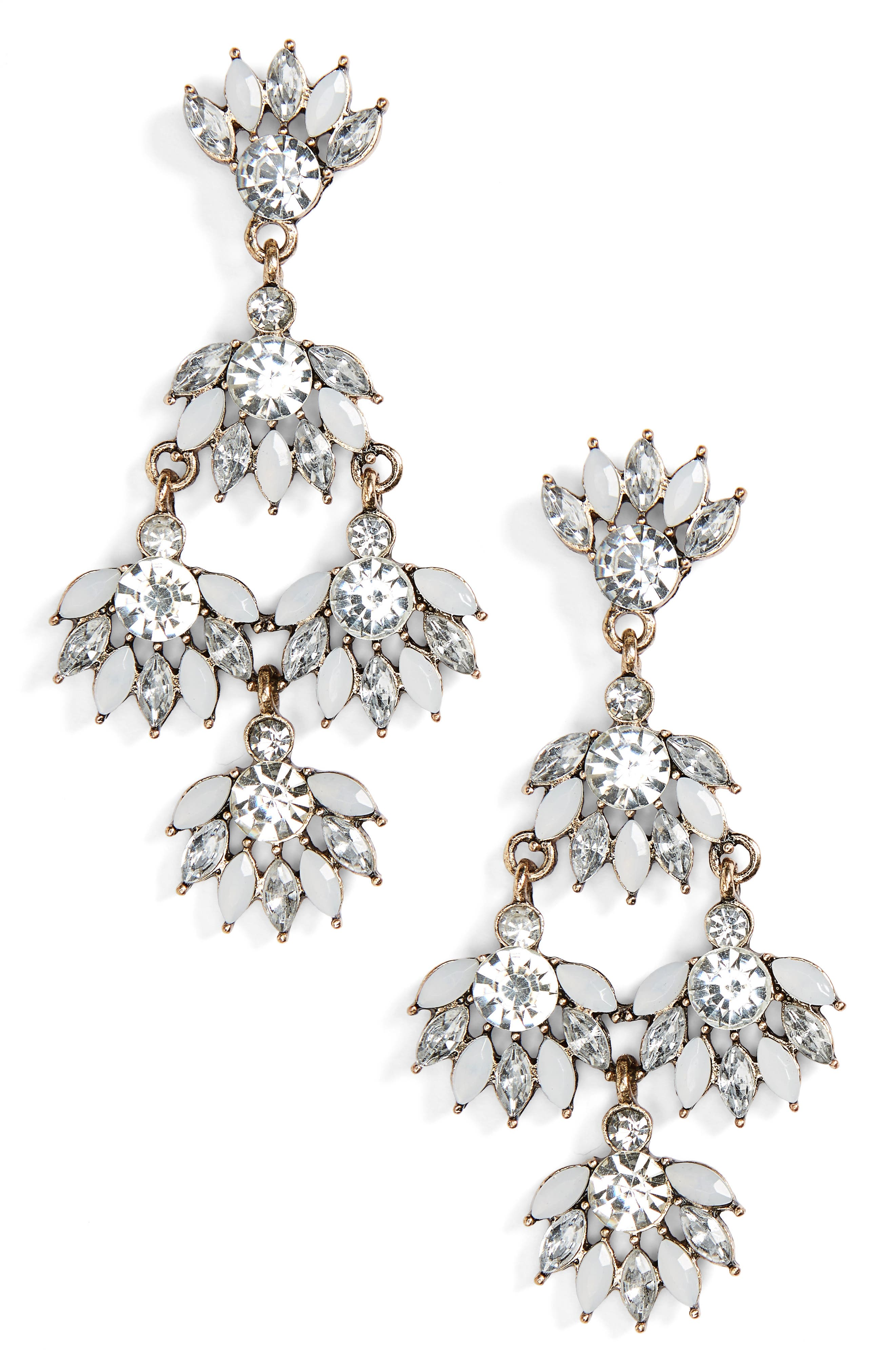 SOLE SOCIETY, Chandelier Earrings, Main thumbnail 1, color, 100
