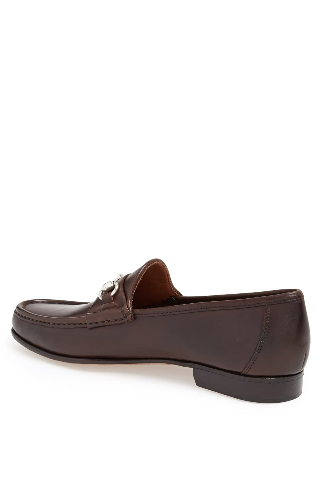 ALLEN EDMONDS, Verona II Bit Loafer, Alternate thumbnail 2, color, BROWN/ BROWN