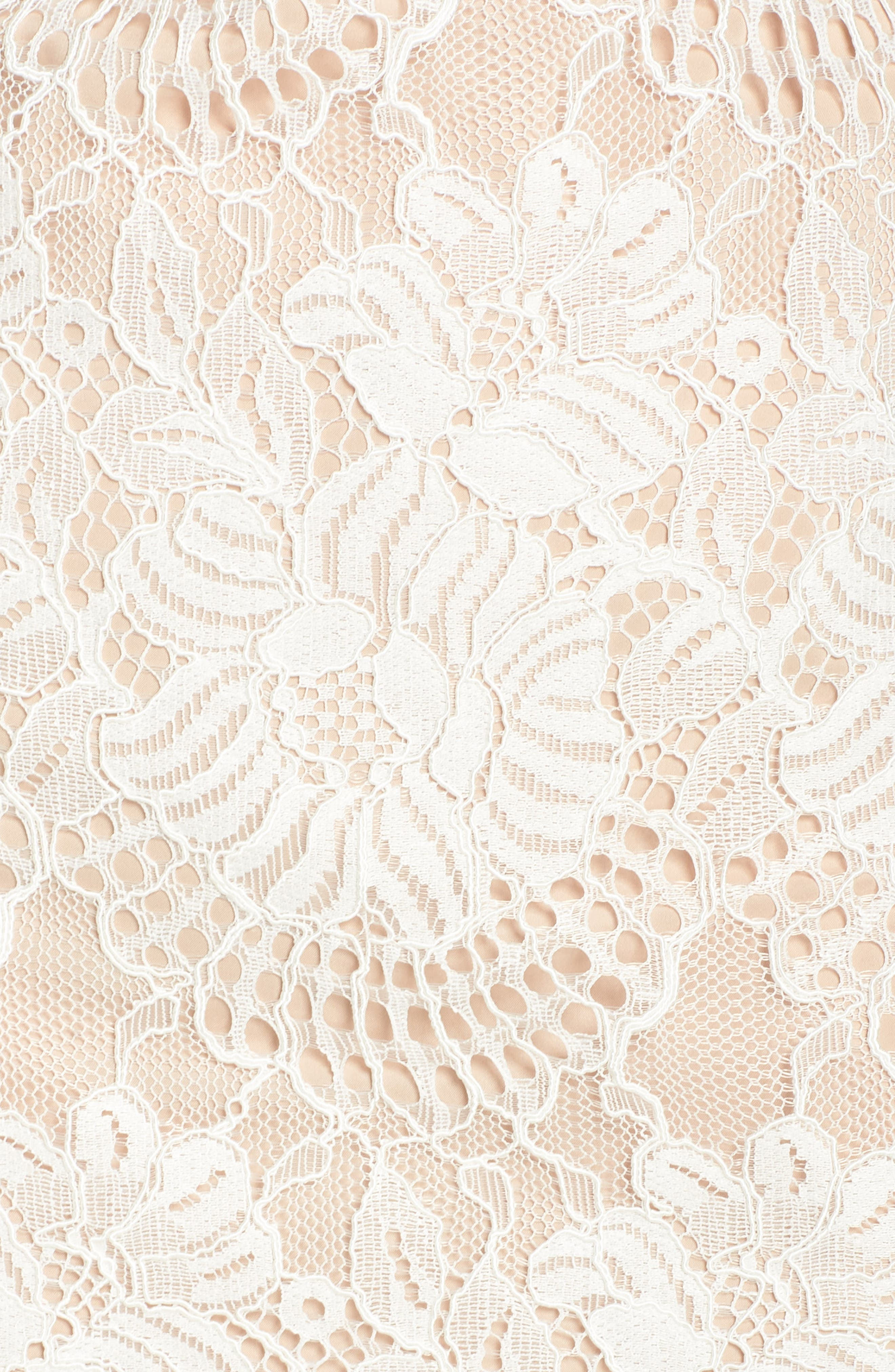VINCE CAMUTO, Lace Shift Dress, Alternate thumbnail 6, color, IVORY