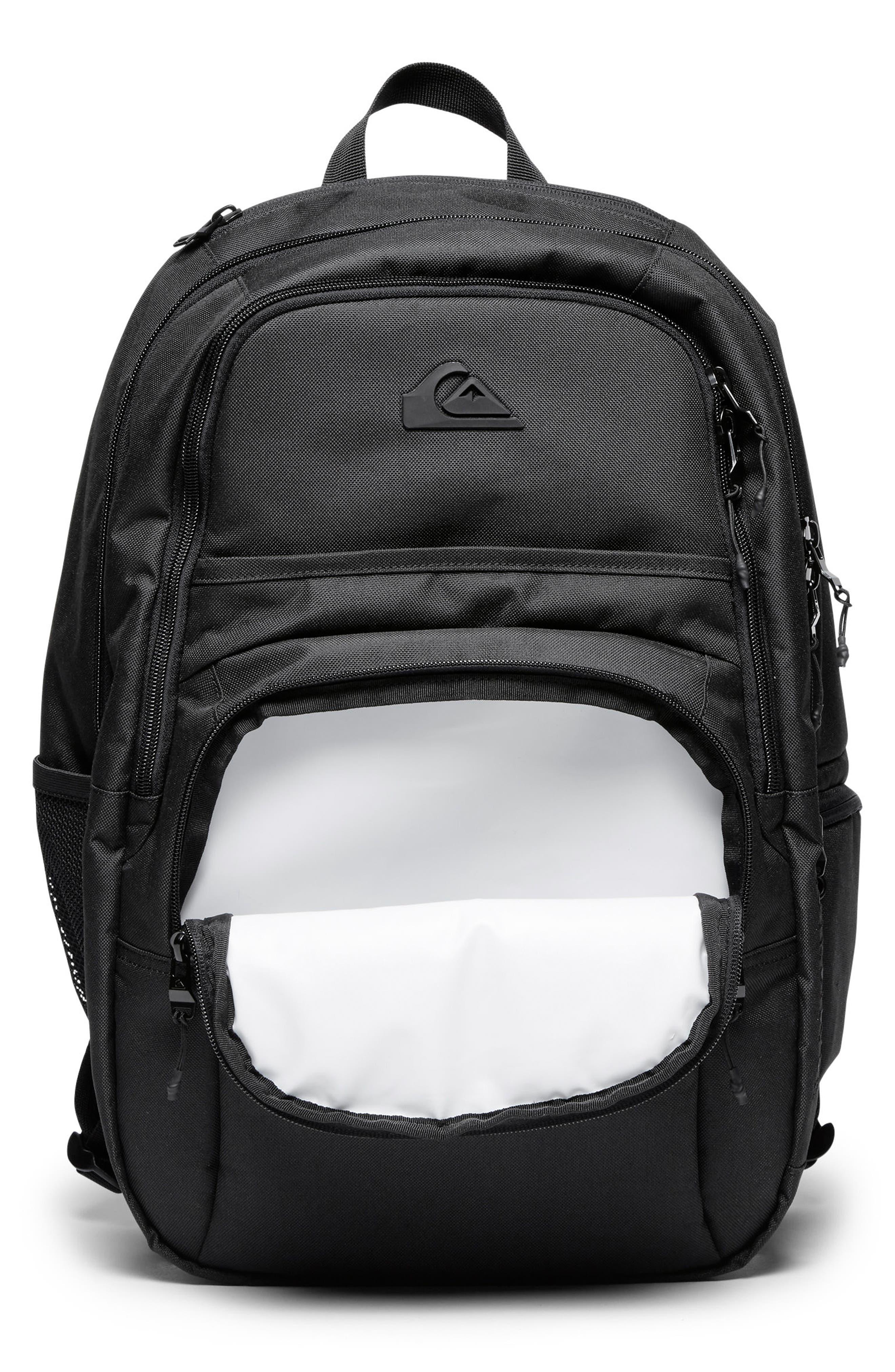QUIKSILVER, Diaper Backpack, Alternate thumbnail 4, color, BLACK