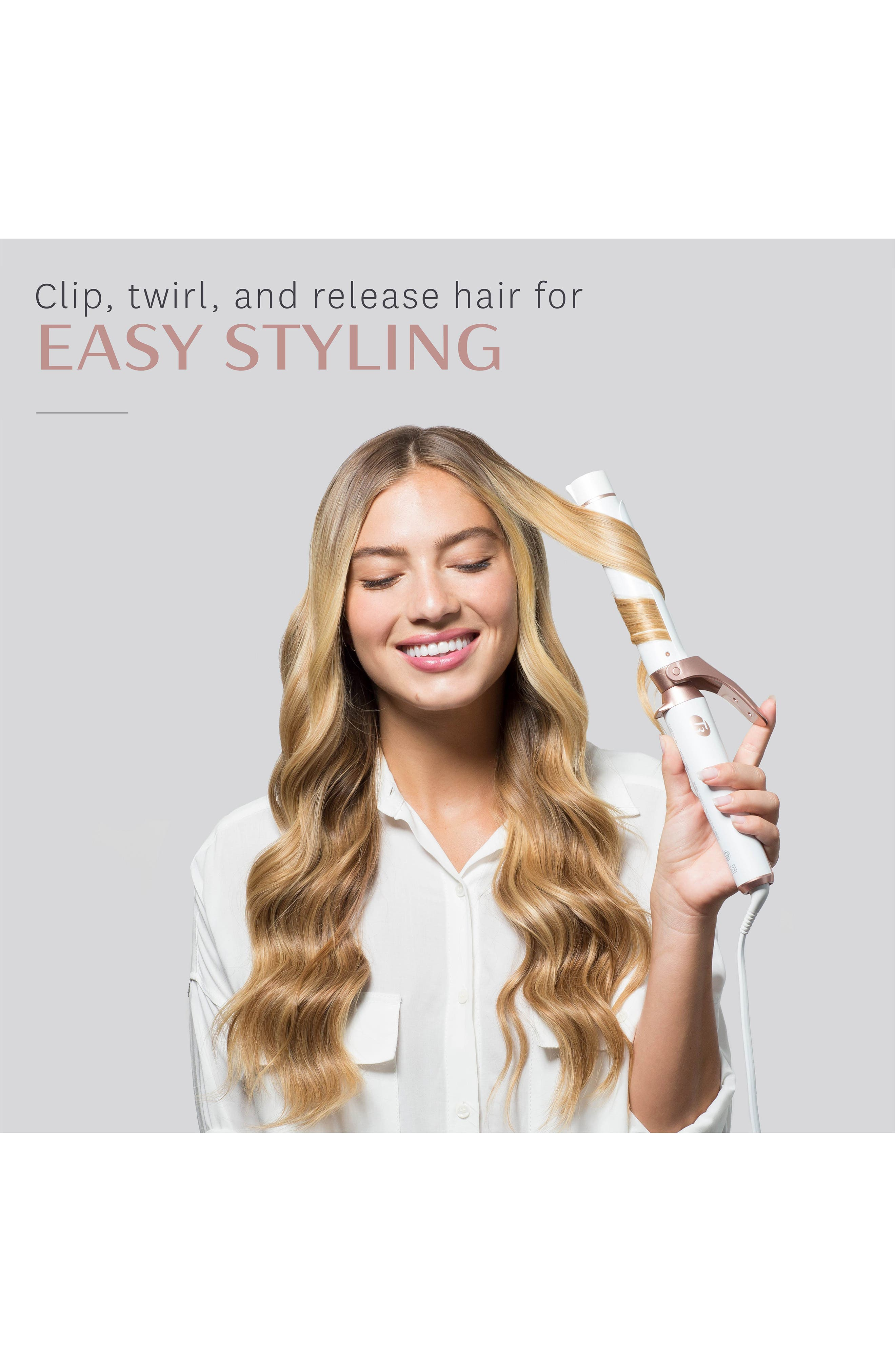 T3, Twirl Convertible 1.25-Inch Interchangeable Clip Curling Iron, Alternate thumbnail 3, color, NO COLOR
