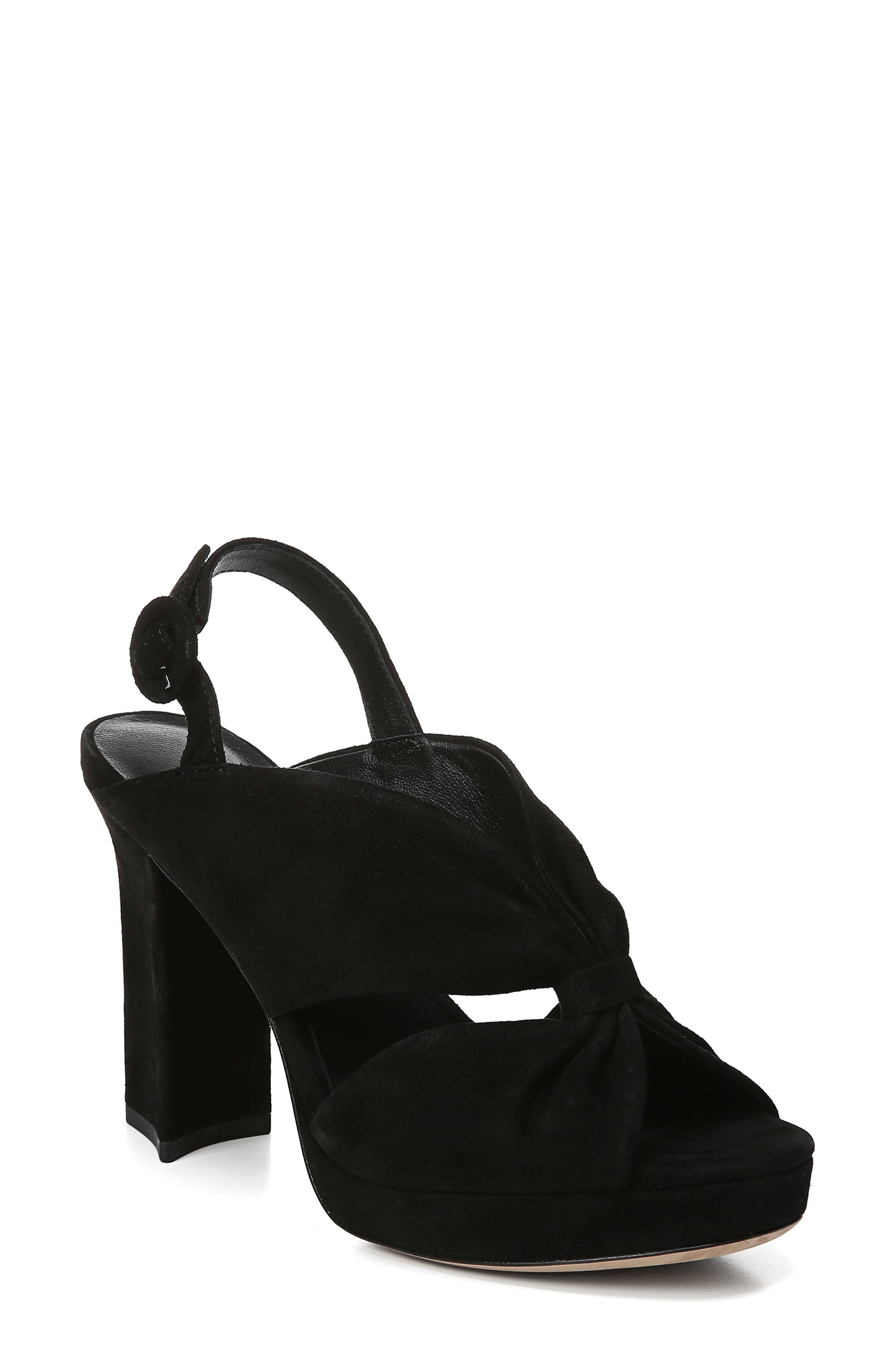 DIANE VON FURSTENBERG Heidi Platform Sandal, Main, color, BLACK
