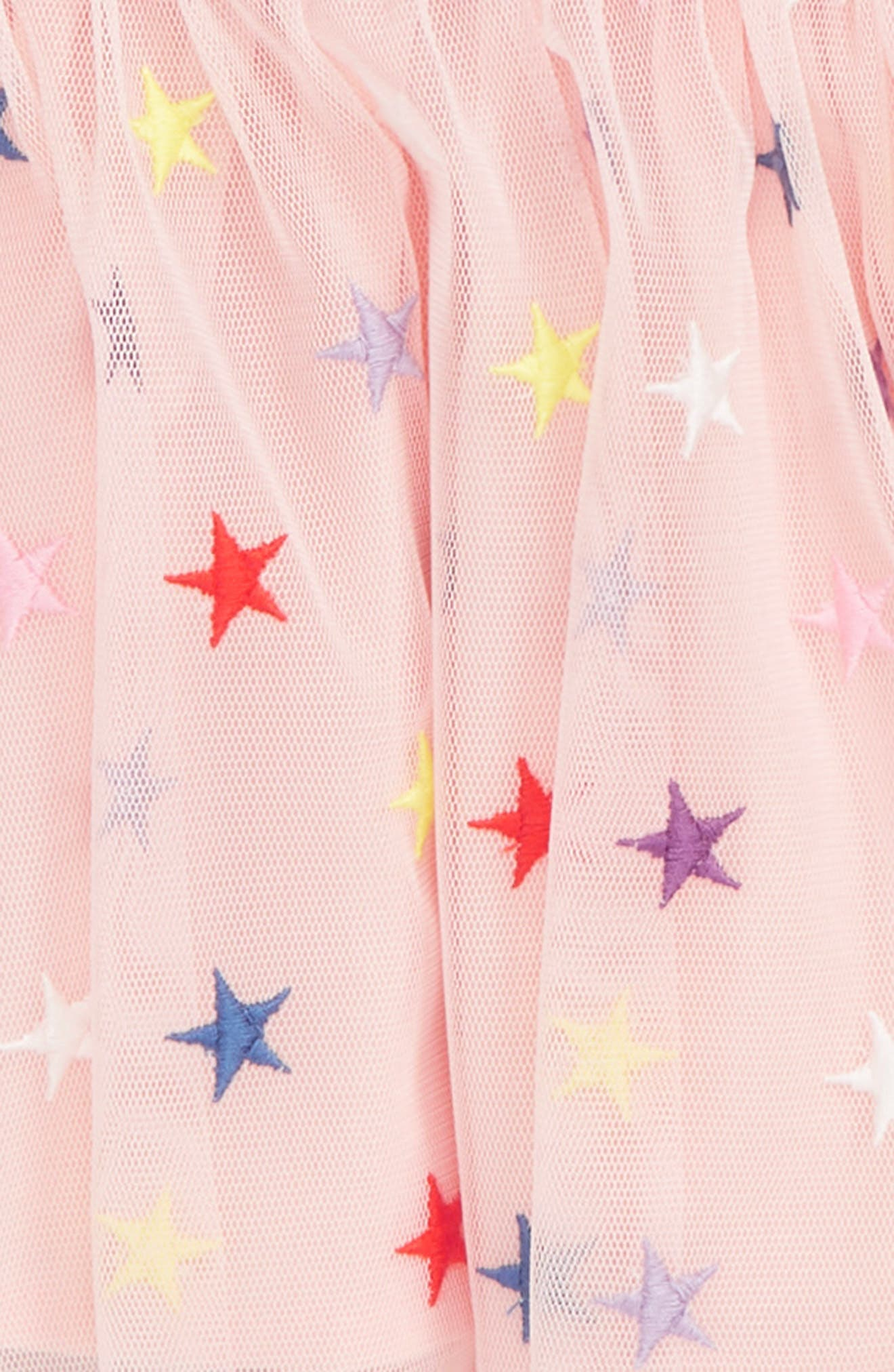 STELLA MCCARTNEY KIDS, Stars Tulle Dress, Alternate thumbnail 2, color, 6842 PINK