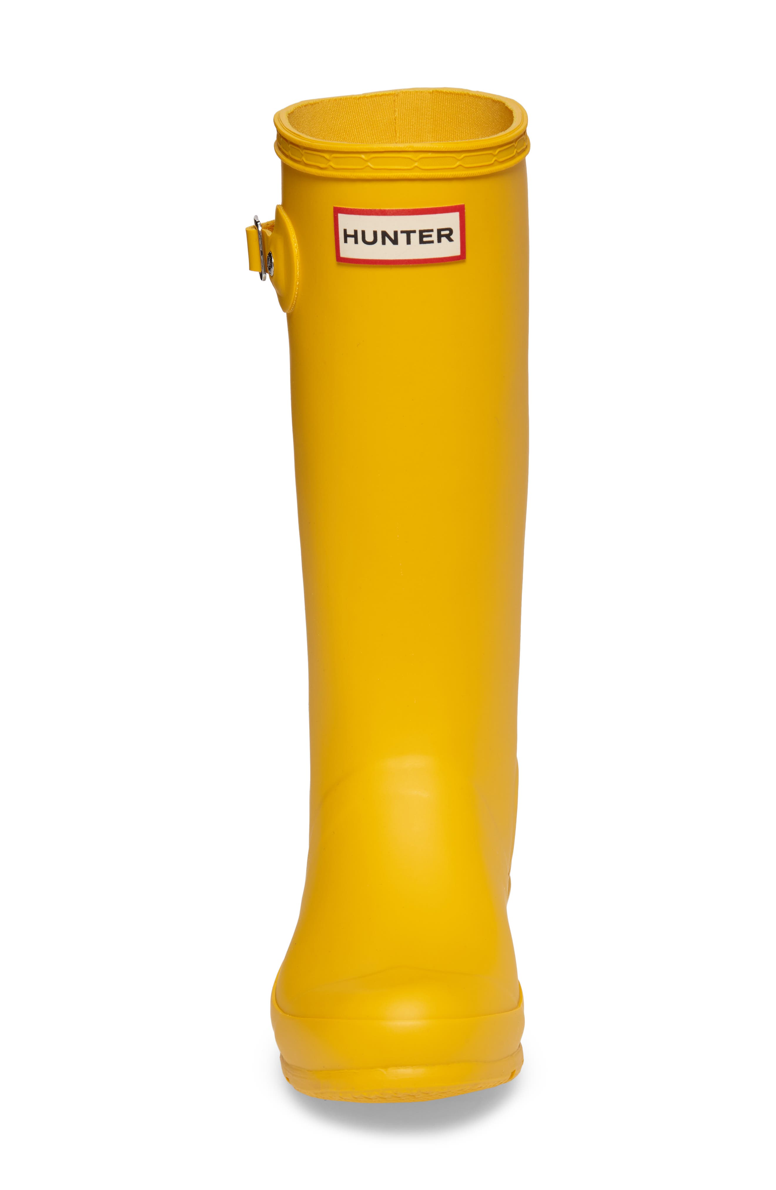 HUNTER, Original Rain Boot, Alternate thumbnail 4, color, YELLOW
