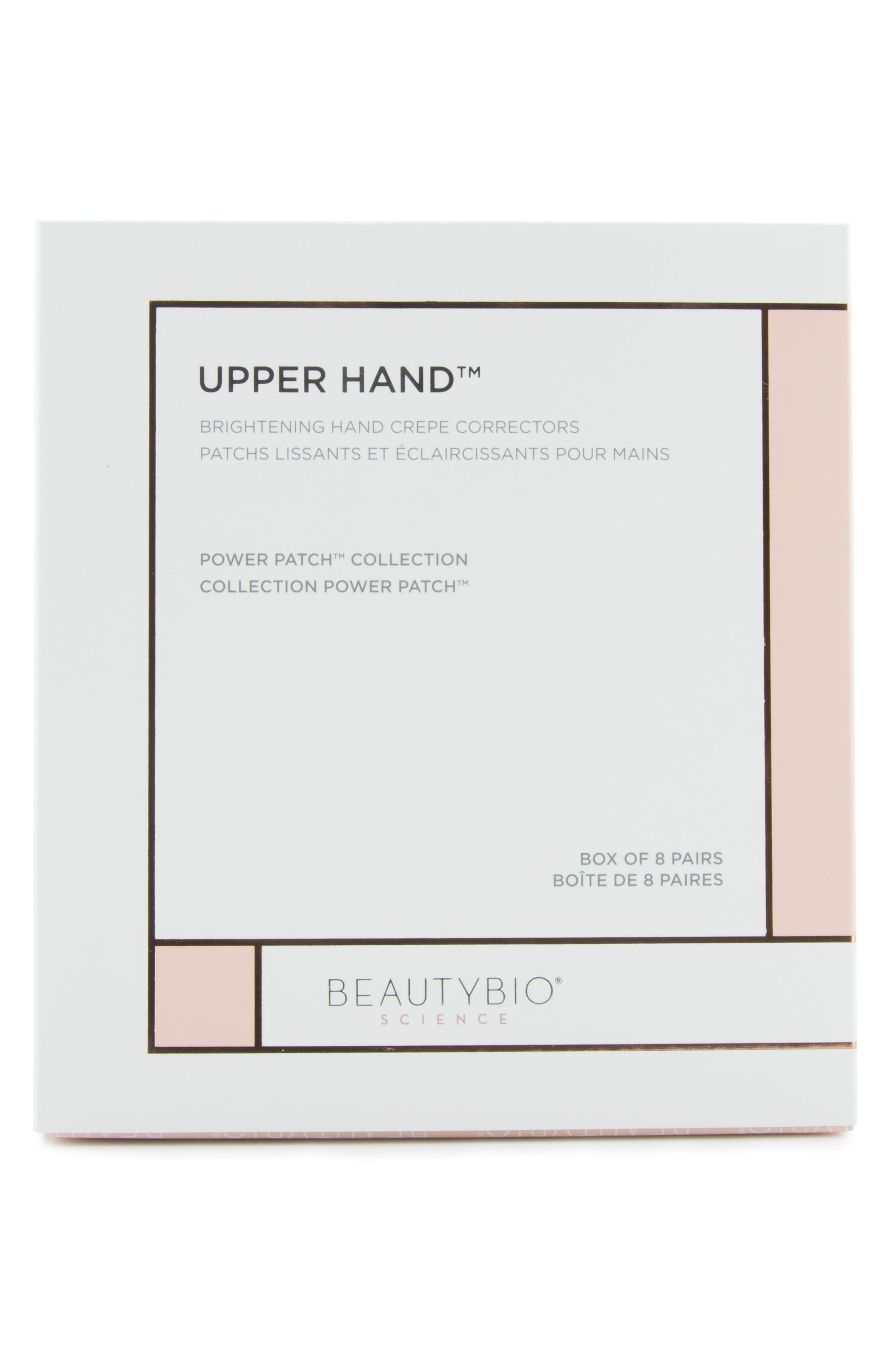 BEAUTYBIO, Upper Hand Brightening Hand Crepe Corrector Patches, Alternate thumbnail 2, color, NO COLOR