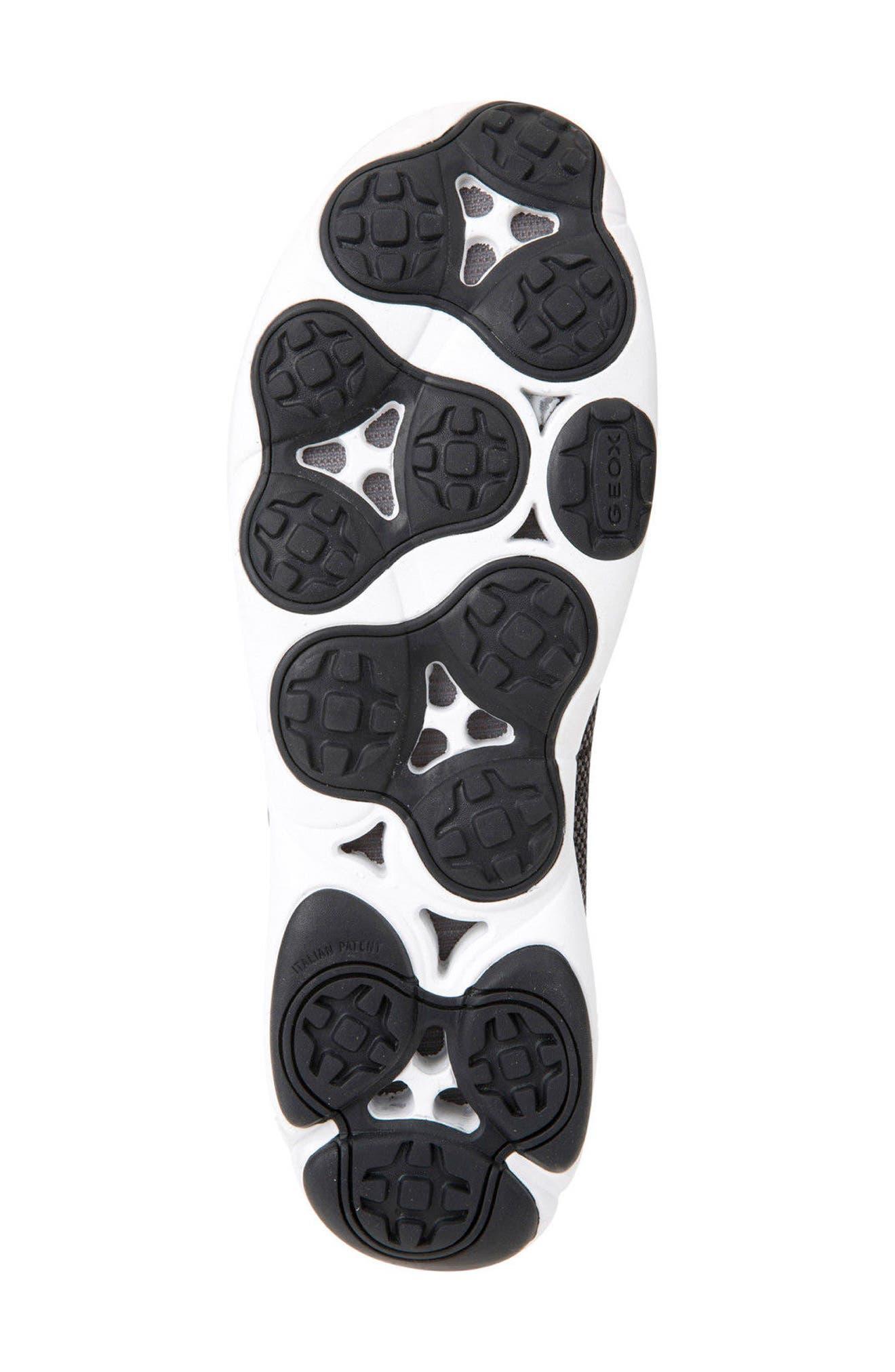 GEOX, Nebula 45 Banded Slip-On Sneaker, Alternate thumbnail 6, color, BLACK