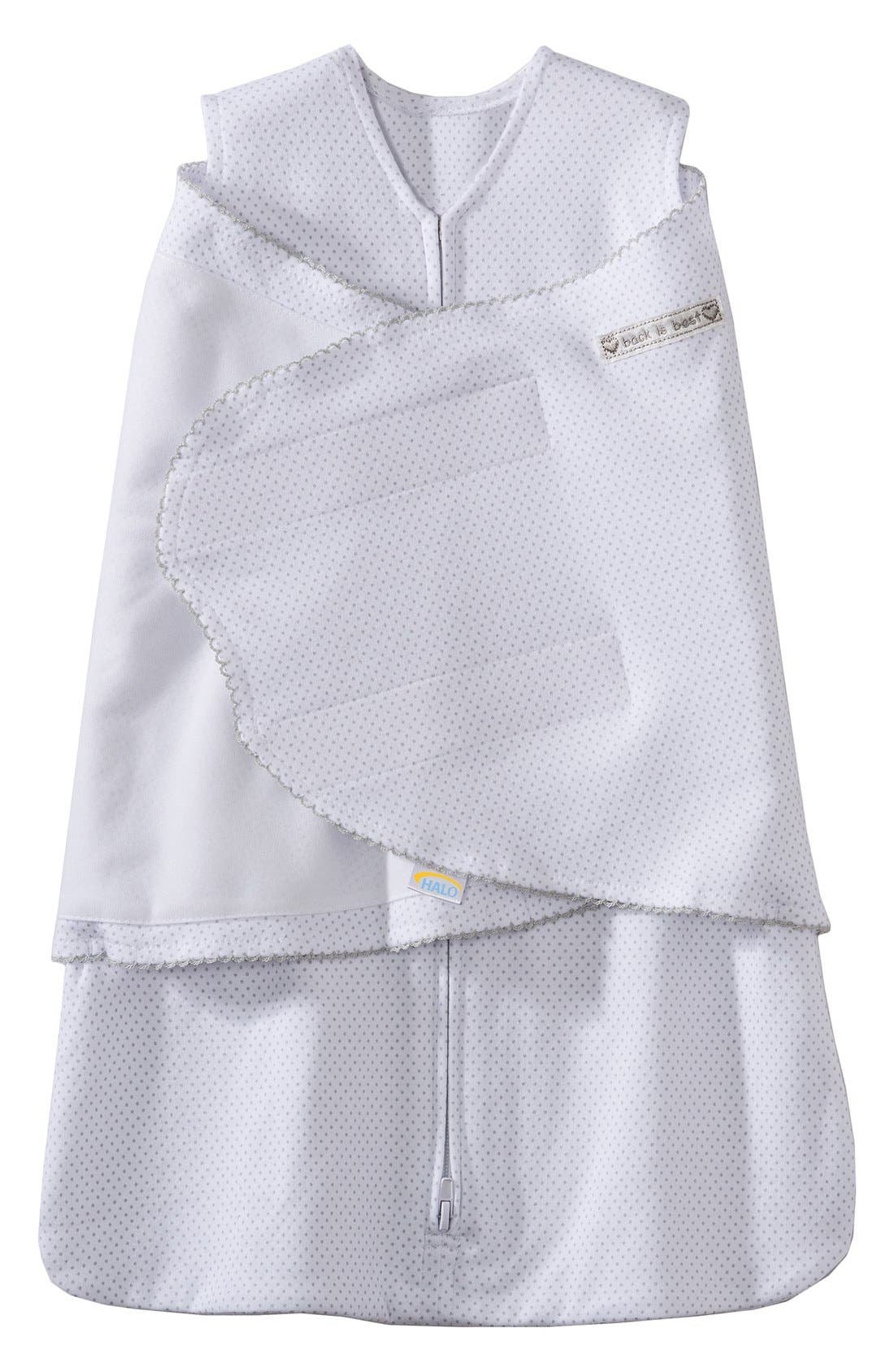 HALO<SUP>®</SUP>, Wearable Swaddle Blanket, Alternate thumbnail 2, color, SILVER