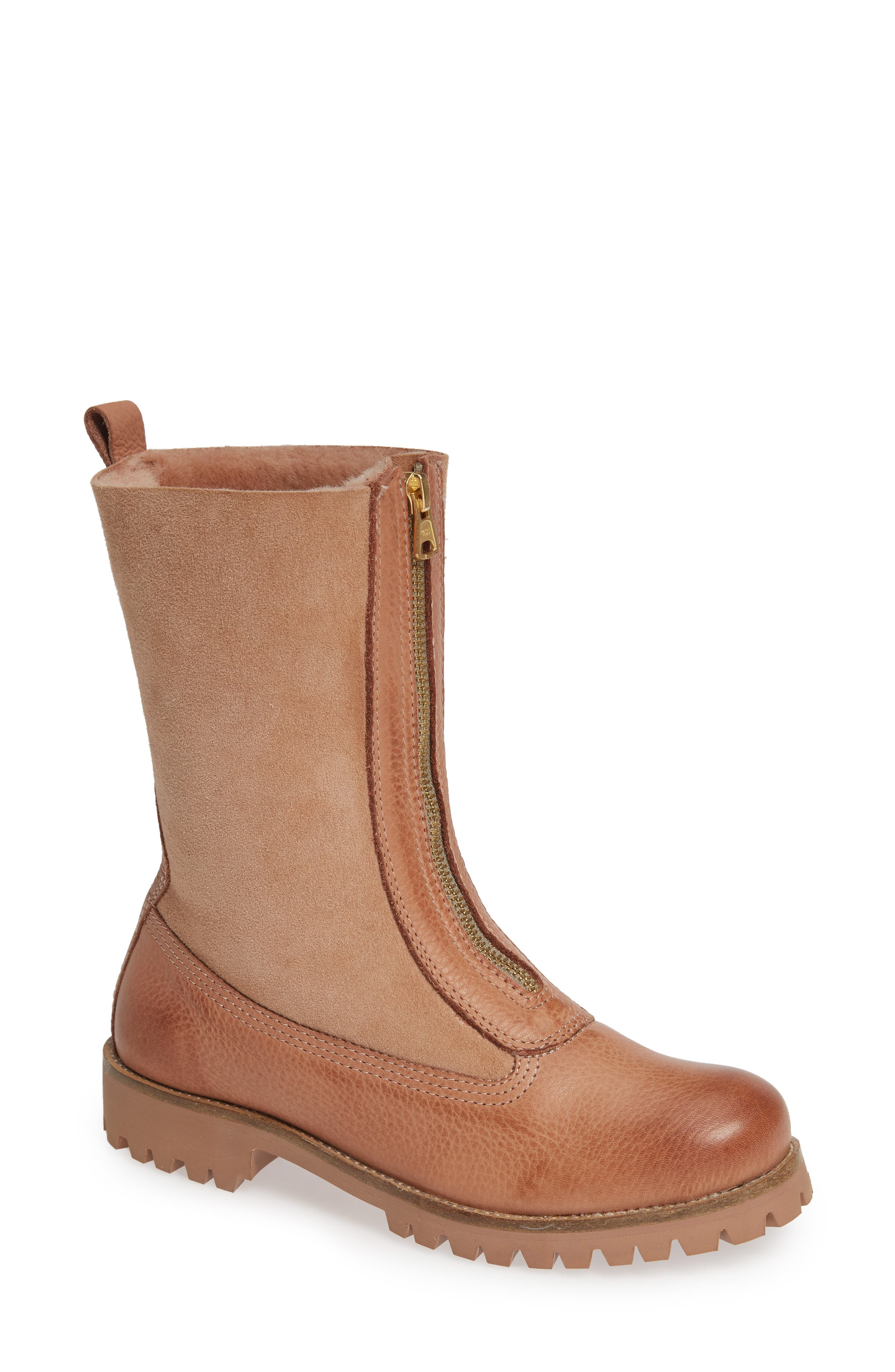 Blackstone Ql53 Genuine Shearling Lined Bootie, Beige