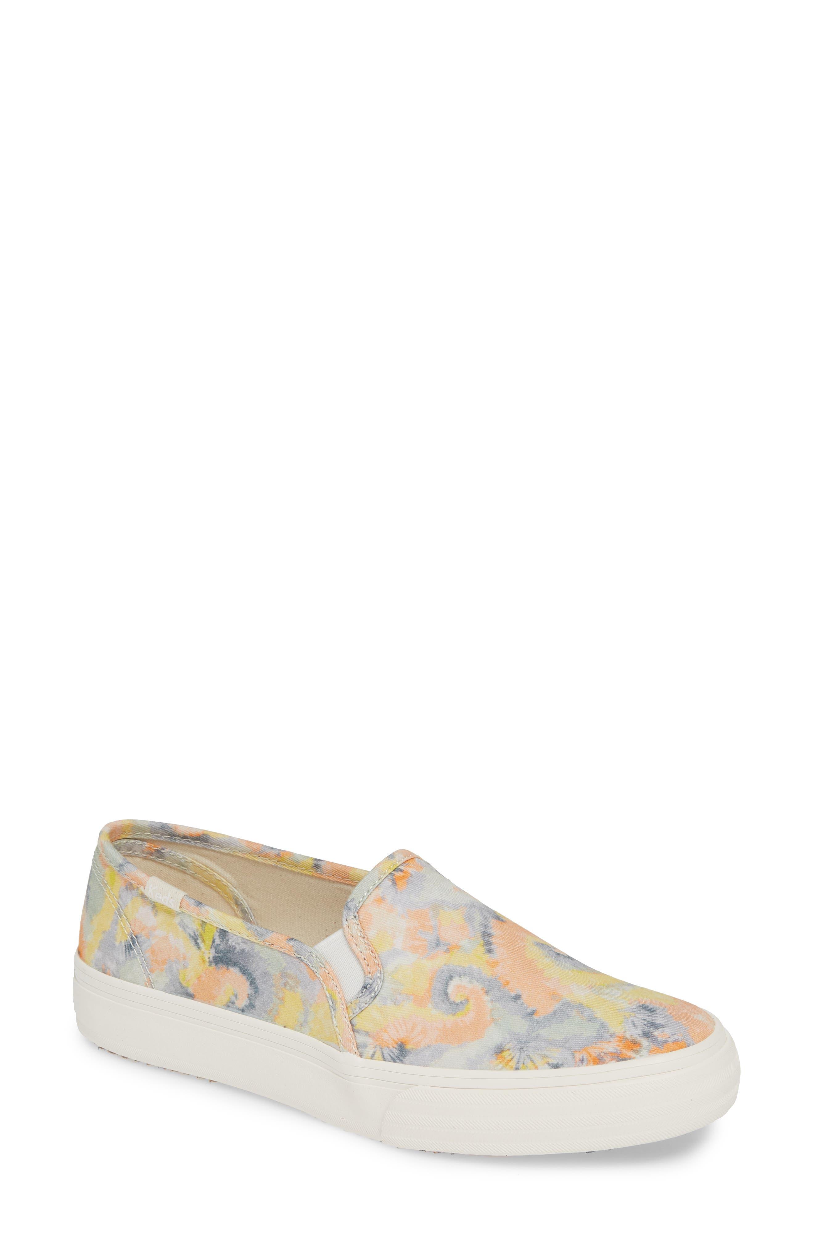 KEDS<SUP>®</SUP>, Double Decker Tie Dye Sneaker, Main thumbnail 1, color, PINK MULTI