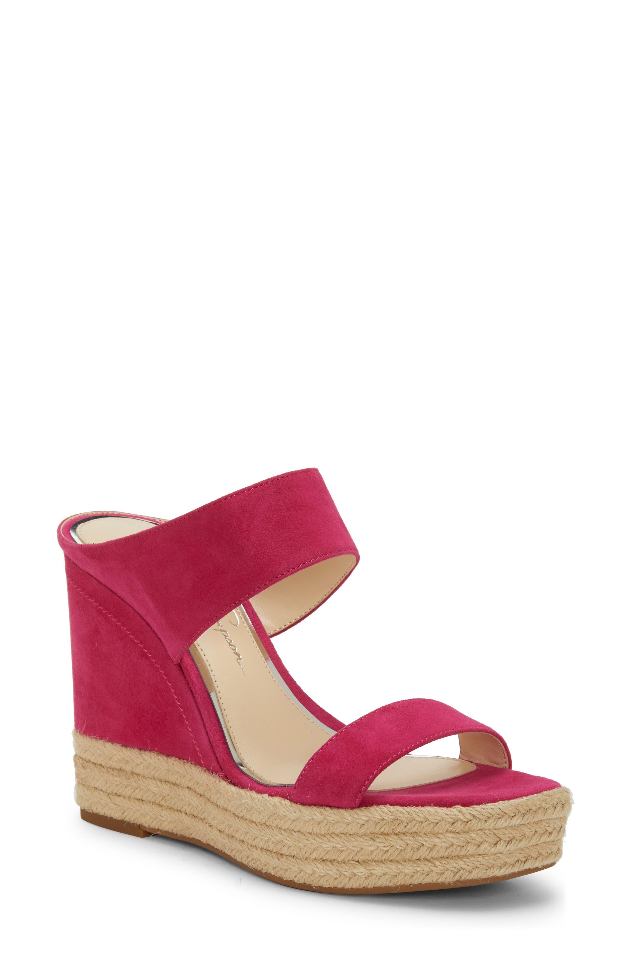 Jessica Simpson Siera Espadrille Wedge Slide Sandal, Pink