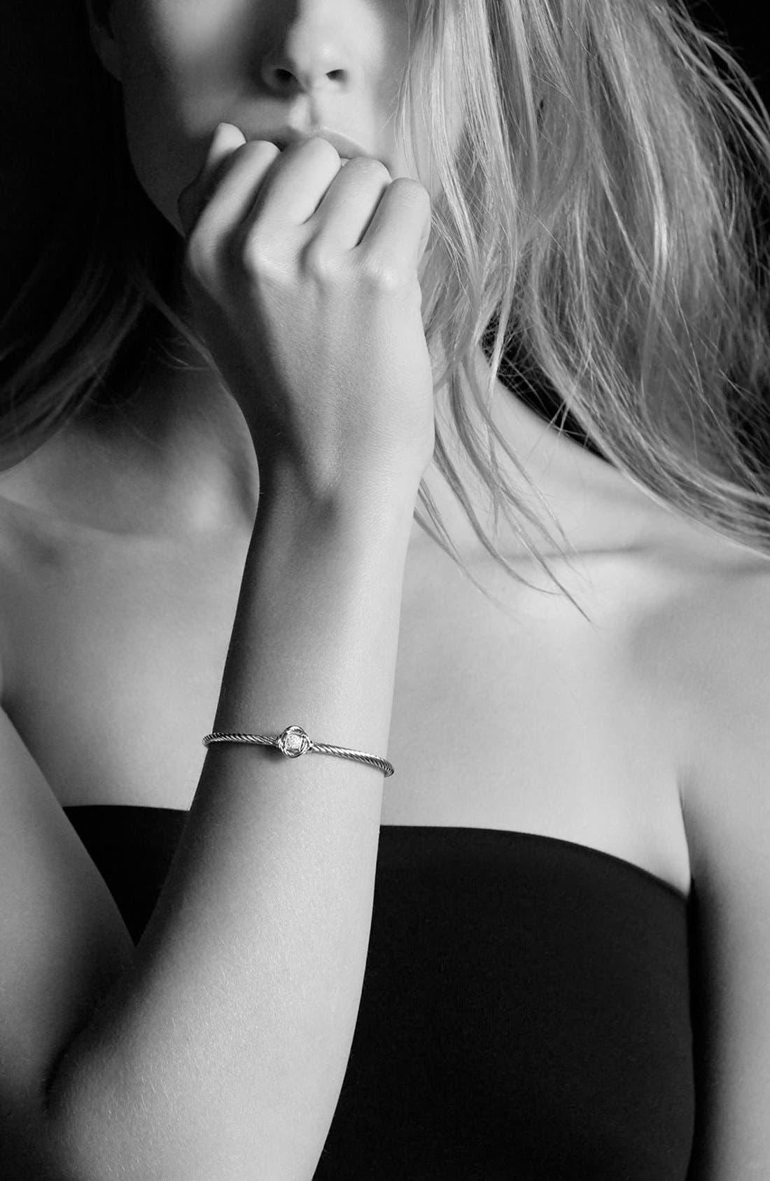 DAVID YURMAN, 'Infinity' Bracelet with Diamonds, Alternate thumbnail 4, color, DIAMOND