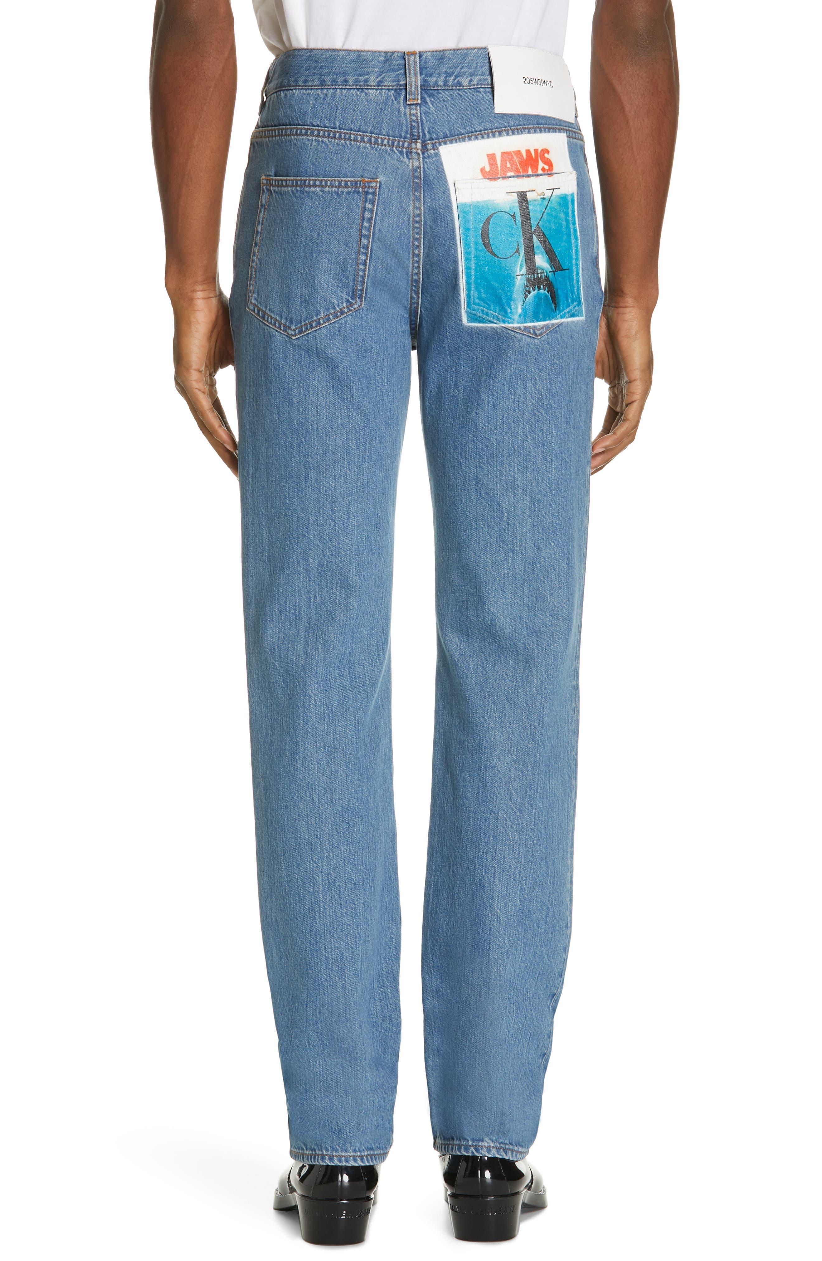 CALVIN KLEIN 205W39NYC, Jeans, Alternate thumbnail 2, color, BLUE