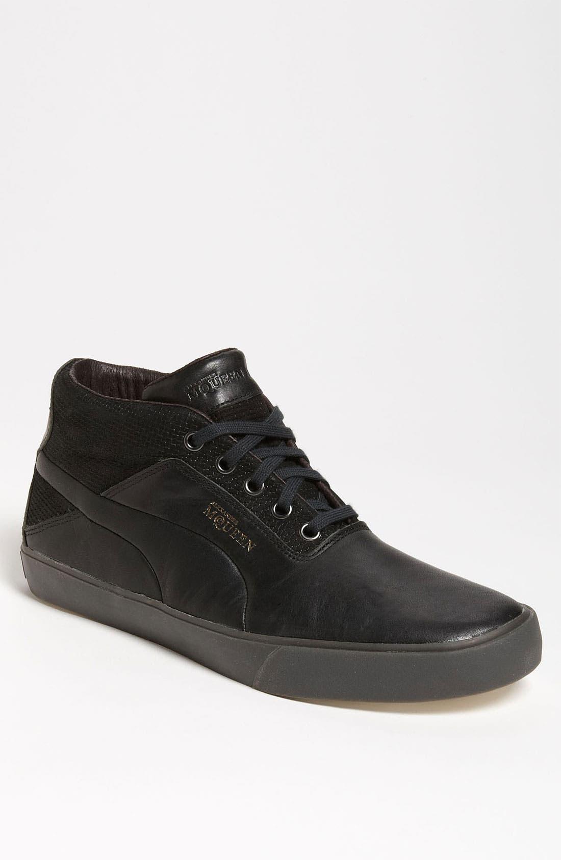 PUMA, 'Alexander McQueen - Deck Mid' Sneaker, Main thumbnail 1, color, 001