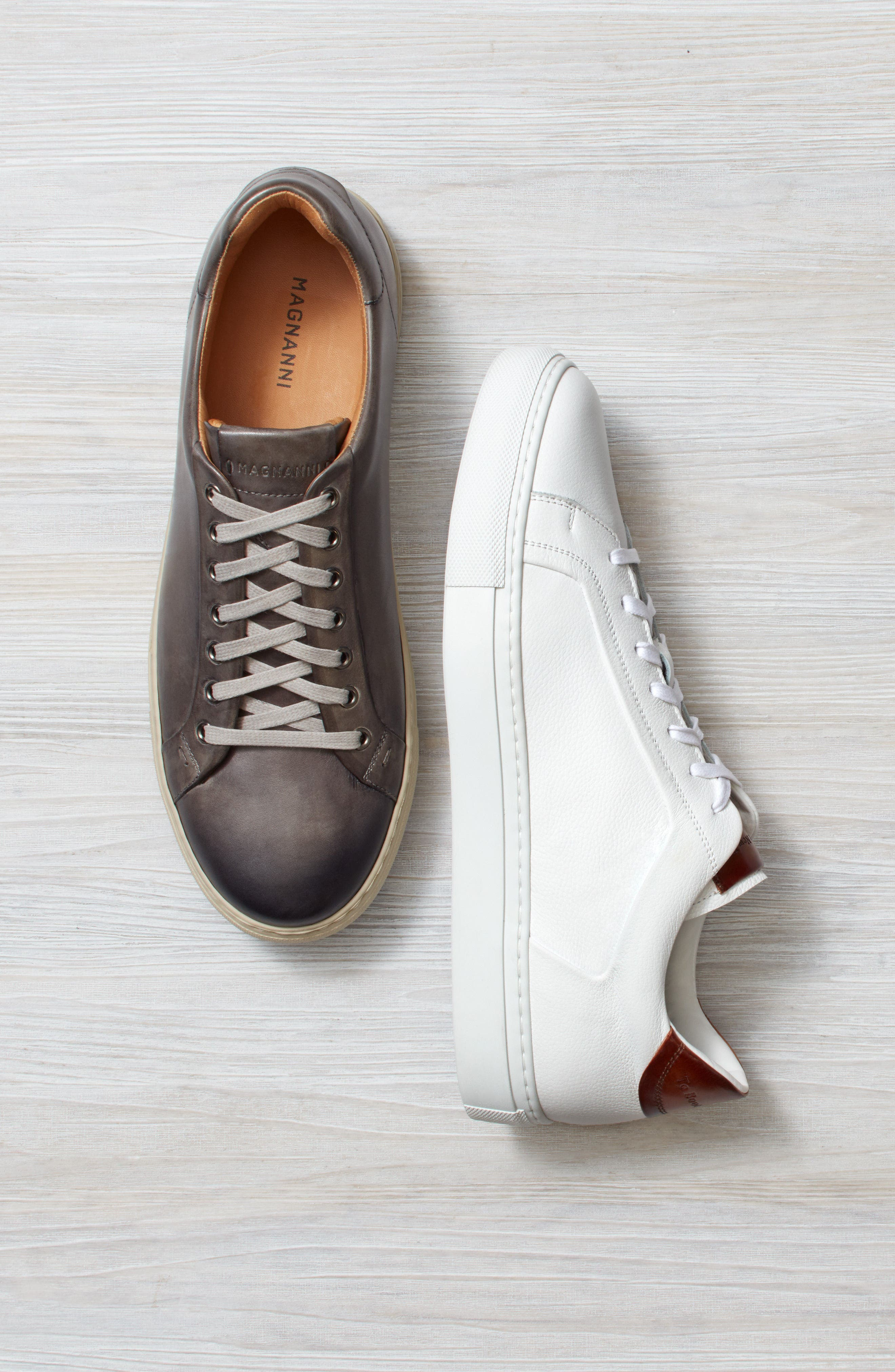 TO BOOT NEW YORK, Carlin Sneaker, Alternate thumbnail 8, color, WHITE/ TAN LEATHER