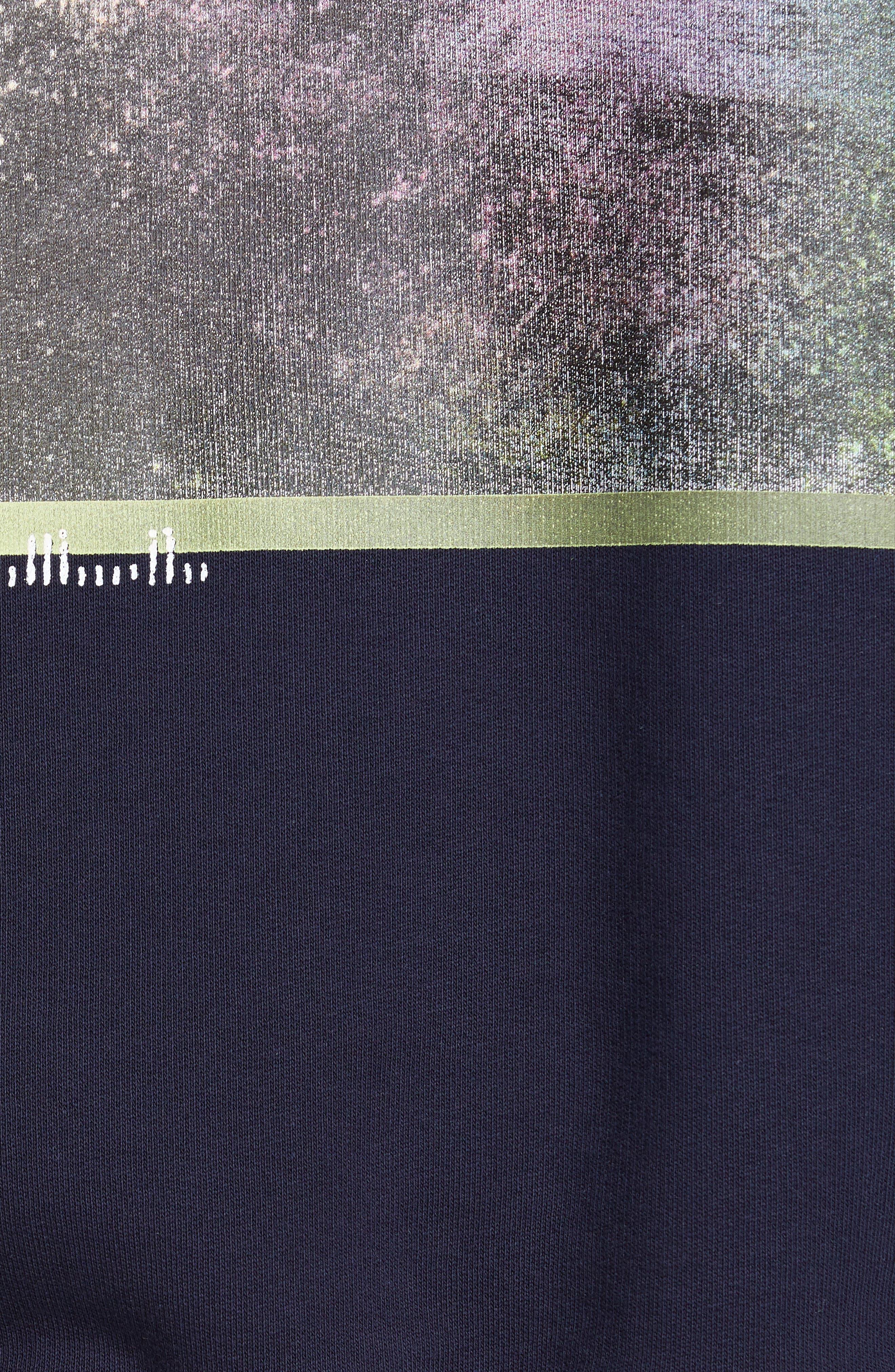 ACNE STUDIOS, Forba Sweden Graphic Sweatshirt, Alternate thumbnail 5, color, NAVY